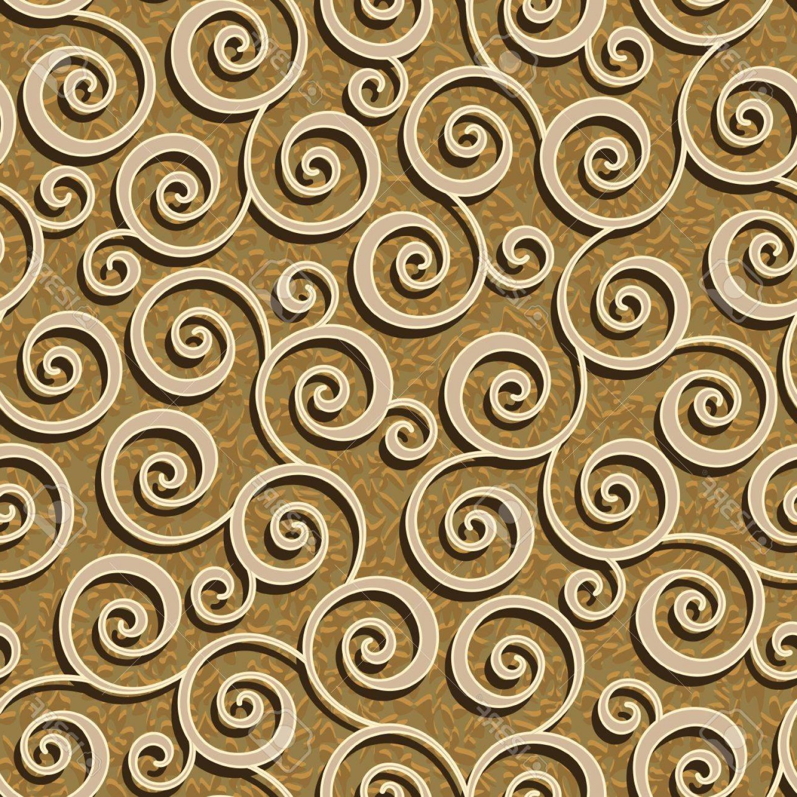 Vector Flourish Backgrounds: Photoabstract Flourish Floral Swirl Seamless Background Pattern