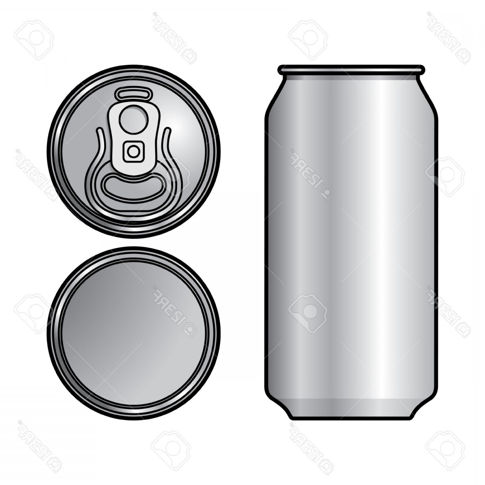 Can Vector: Photoaluminium Can Container Beer Water Beverage Drink