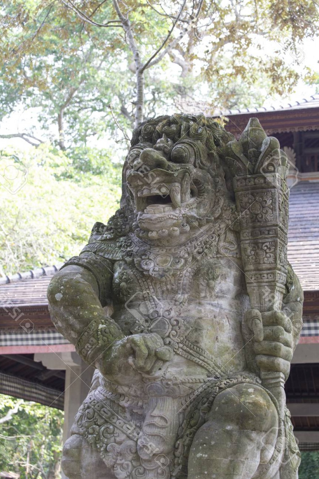 Ancient Jungle Statue Vector Images: Photoancient Stone Sculpture In The Balinese Jungle Indonesia