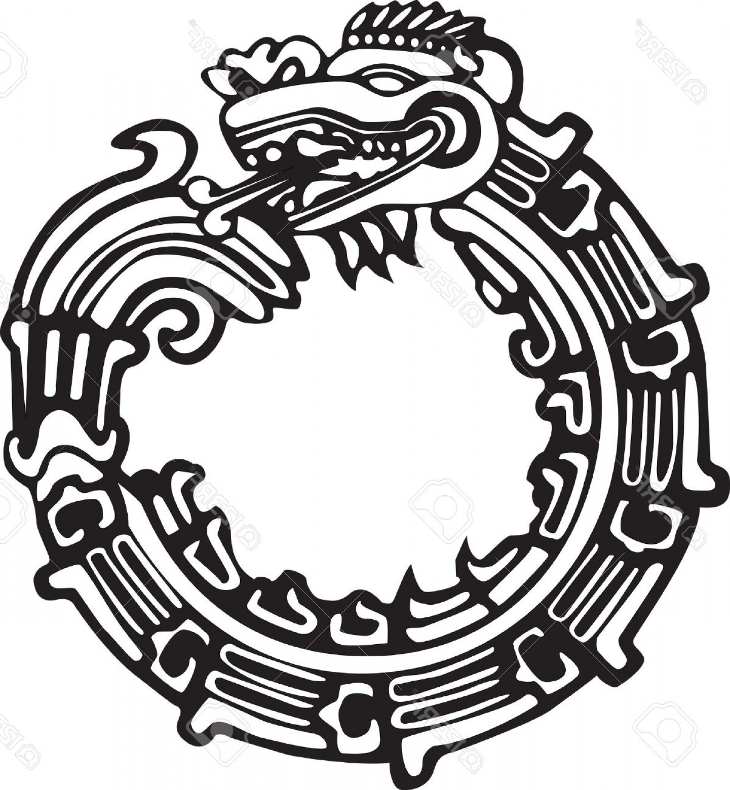 Mayan Vector: Photoaztec Maya Or Chinese Dragon Vector Great For Tattoo Can Be Fully Personalized And Colored