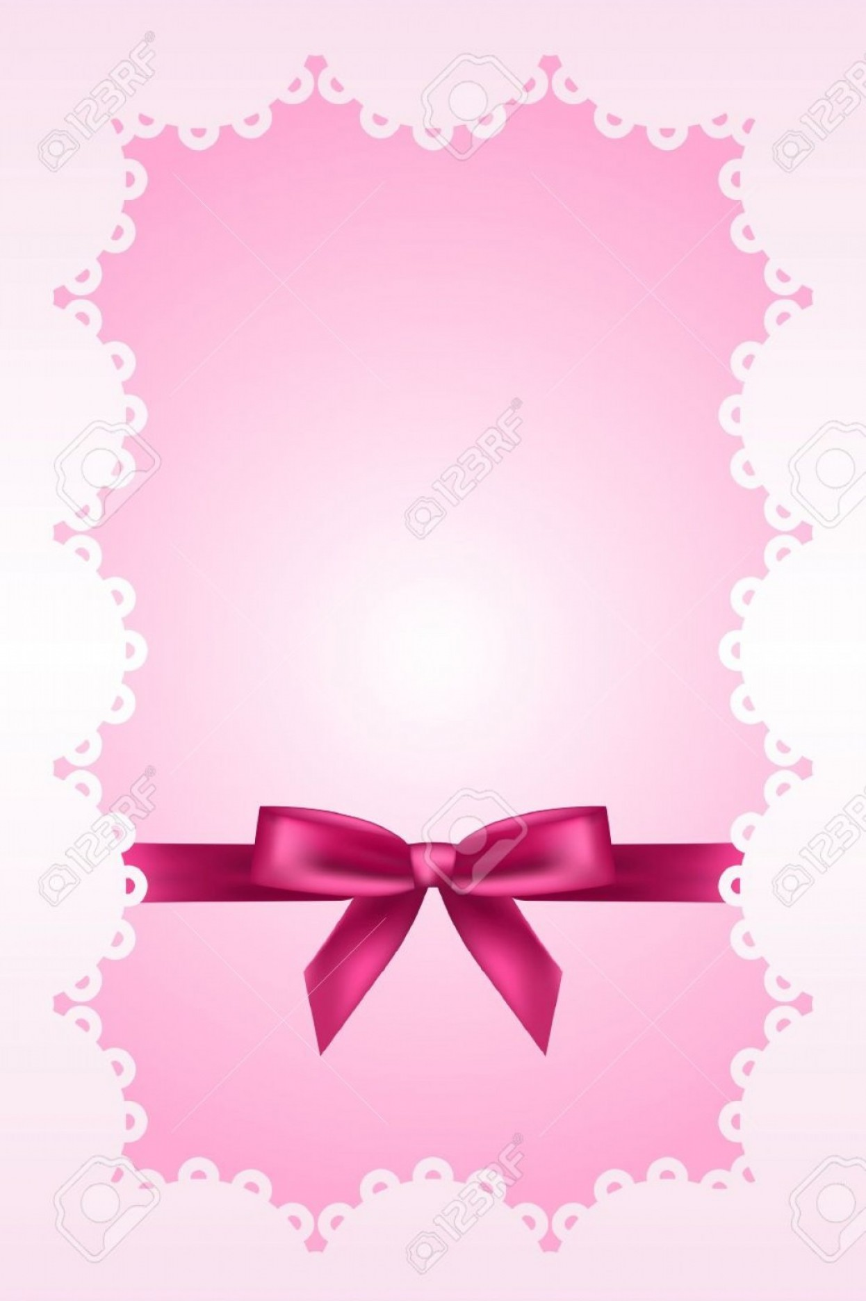 Pink Ribbon Vector Graphic: Photobaby Pink Background With Lace And Ribbon