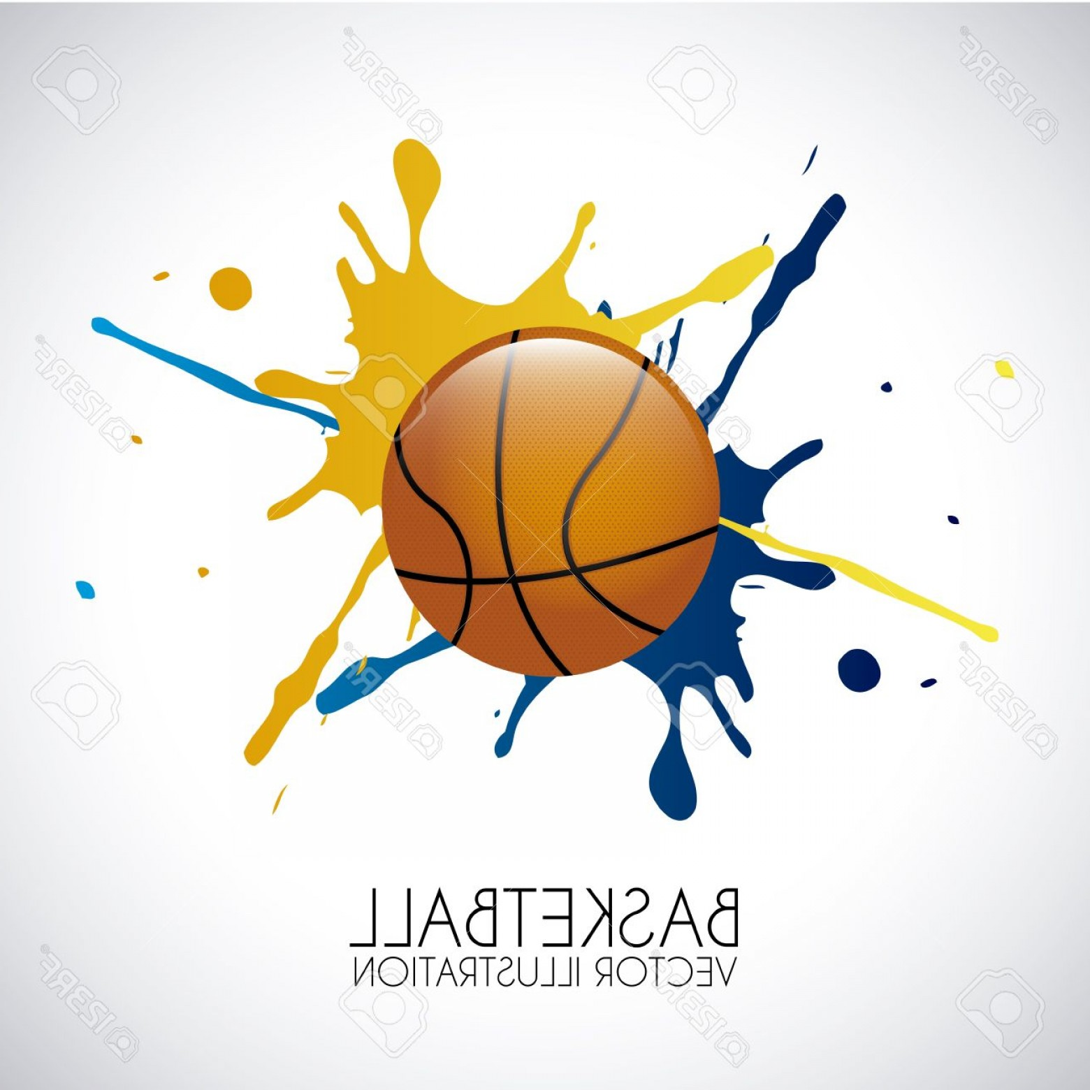 Basketball Vector Graphic Designs: Photobasketball Design Over Gray Background Vector Illustration