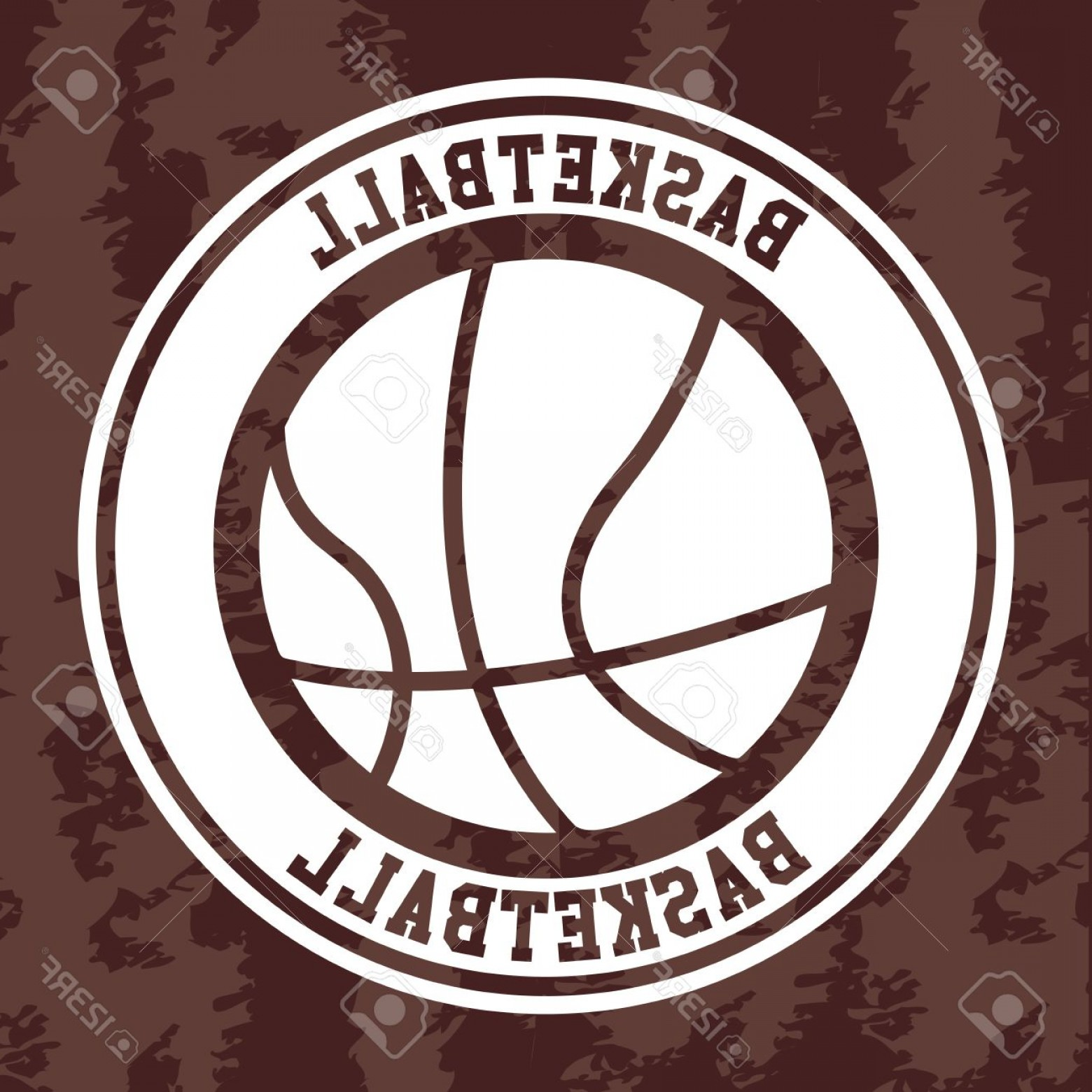 Vintage Basketball Vector: Photobasketball Label Over Vintage Background Vector Illustration