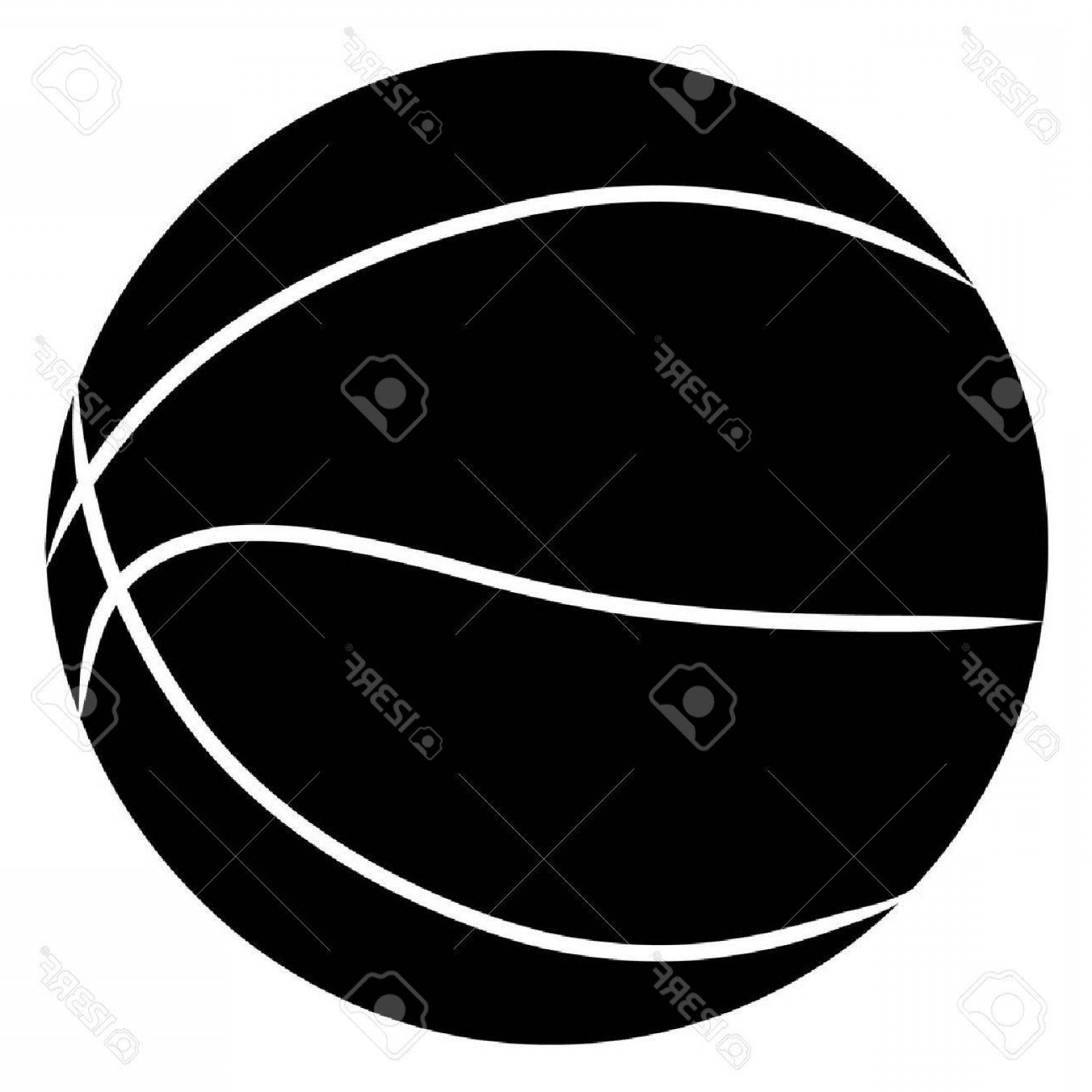 Basketball Seams Vector Clip Art: Photobasketball Silhouette In Black On White Background Vector