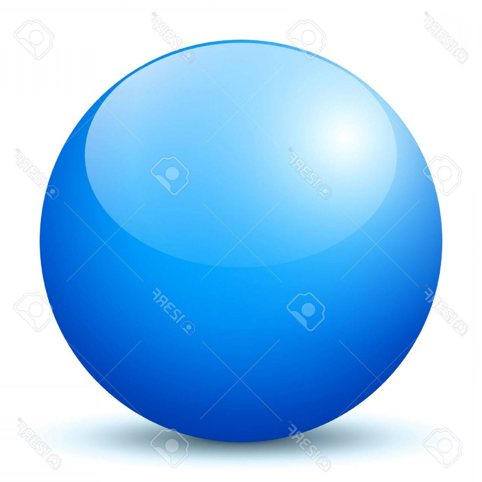 Vector Sphere Marble: Photobeautiful Blue D Vector Sphere With Smooth Shadow And White Background Marble Glossy Glass Ball Pea