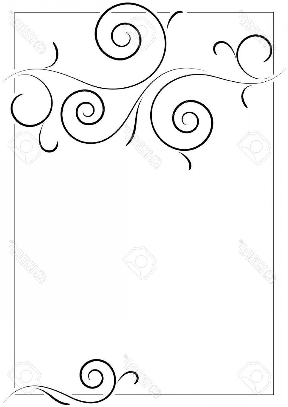 Filigree Oval Frame Vector: Photobeautiful Filigree Frame On Empty Page