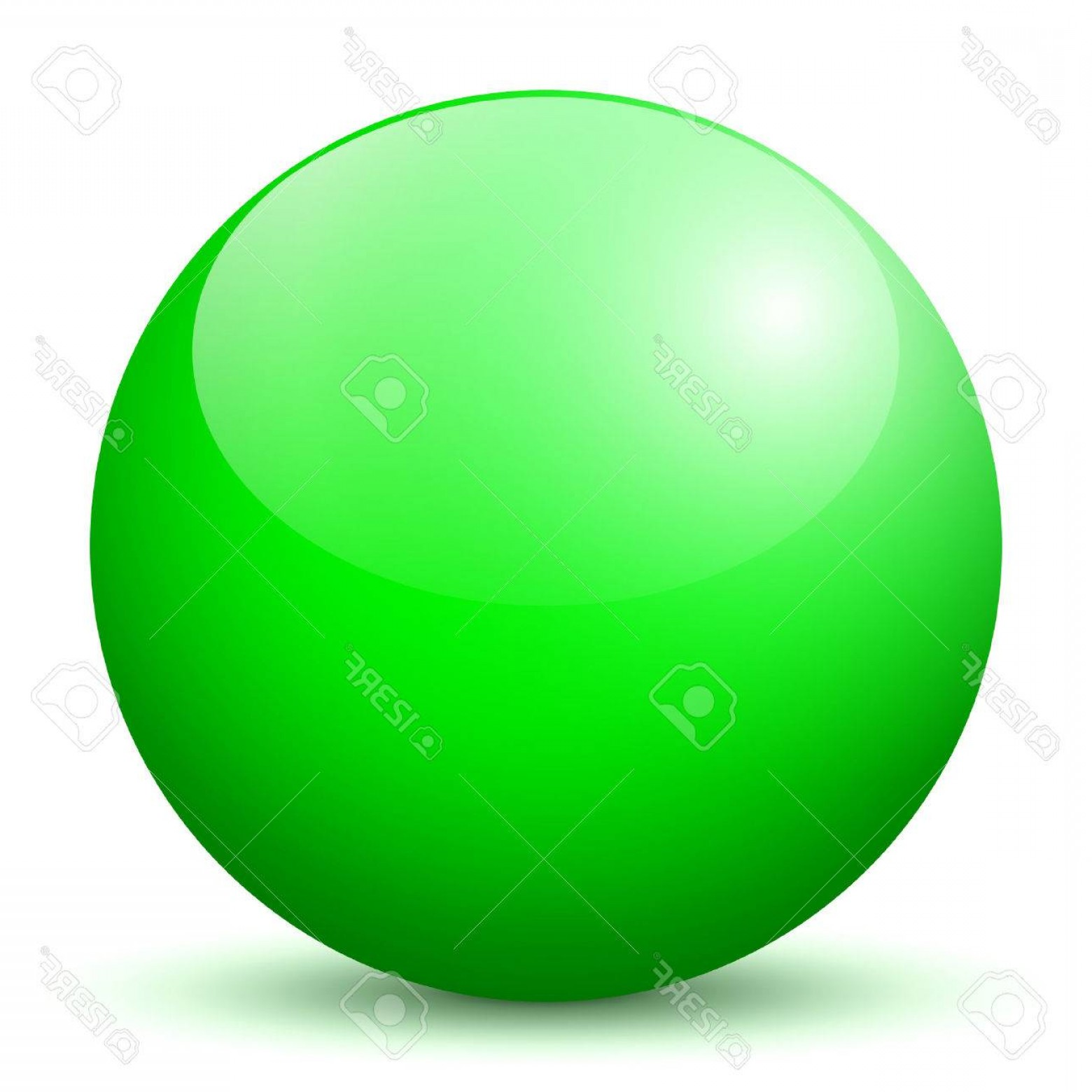 Vector Sphere Marble: Photobeautiful Green D Vector Sphere With Smooth Shadow And White Background Marble Glossy Glass Ball Pe