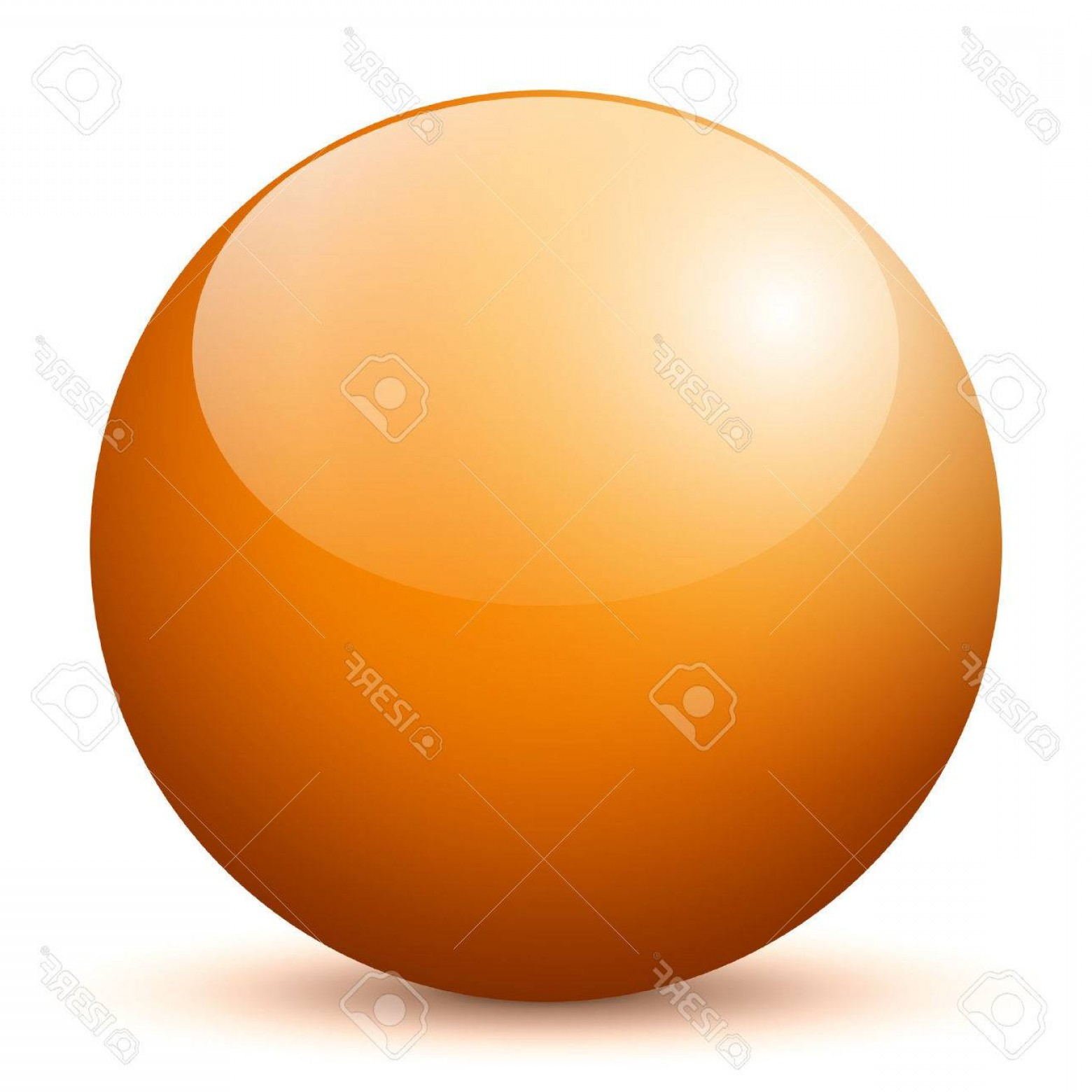 Vector Sphere Marble: Photobeautiful Orange D Vector Sphere With Smooth Shadow And White Background Marble Glossy Glass Ball P