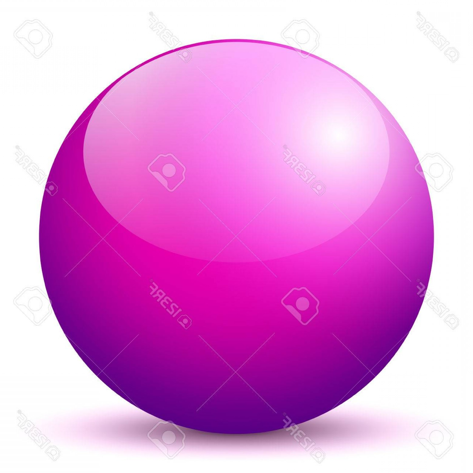 Vector Sphere Marble: Photobeautiful Purple D Vector Sphere With Smooth Shadow And White Background Marble Glossy Glass Ball P