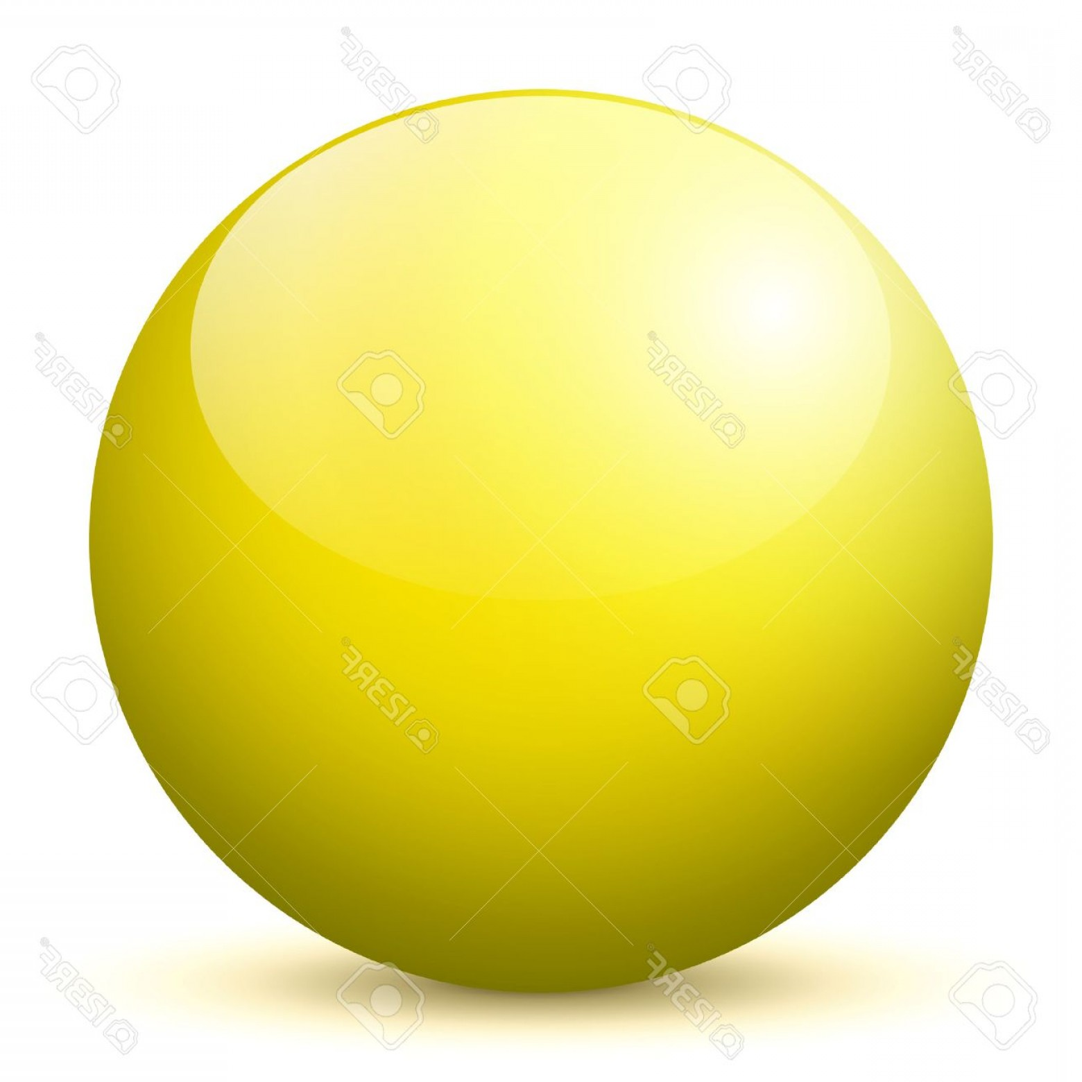 Vector Sphere Marble: Photobeautiful Yellow D Vector Sphere With Smooth Shadow And White Background Marble Glossy Glass Ball P