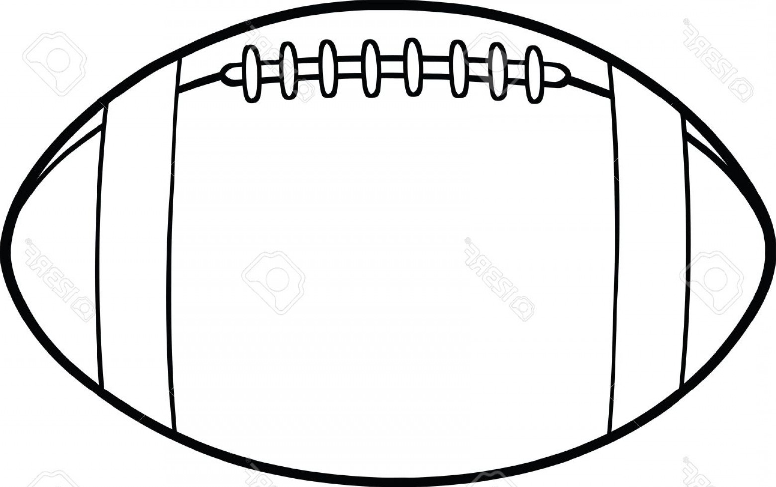 Black And White Vector American Football: Photoblack And White American Football Ball Cartoon Illustration