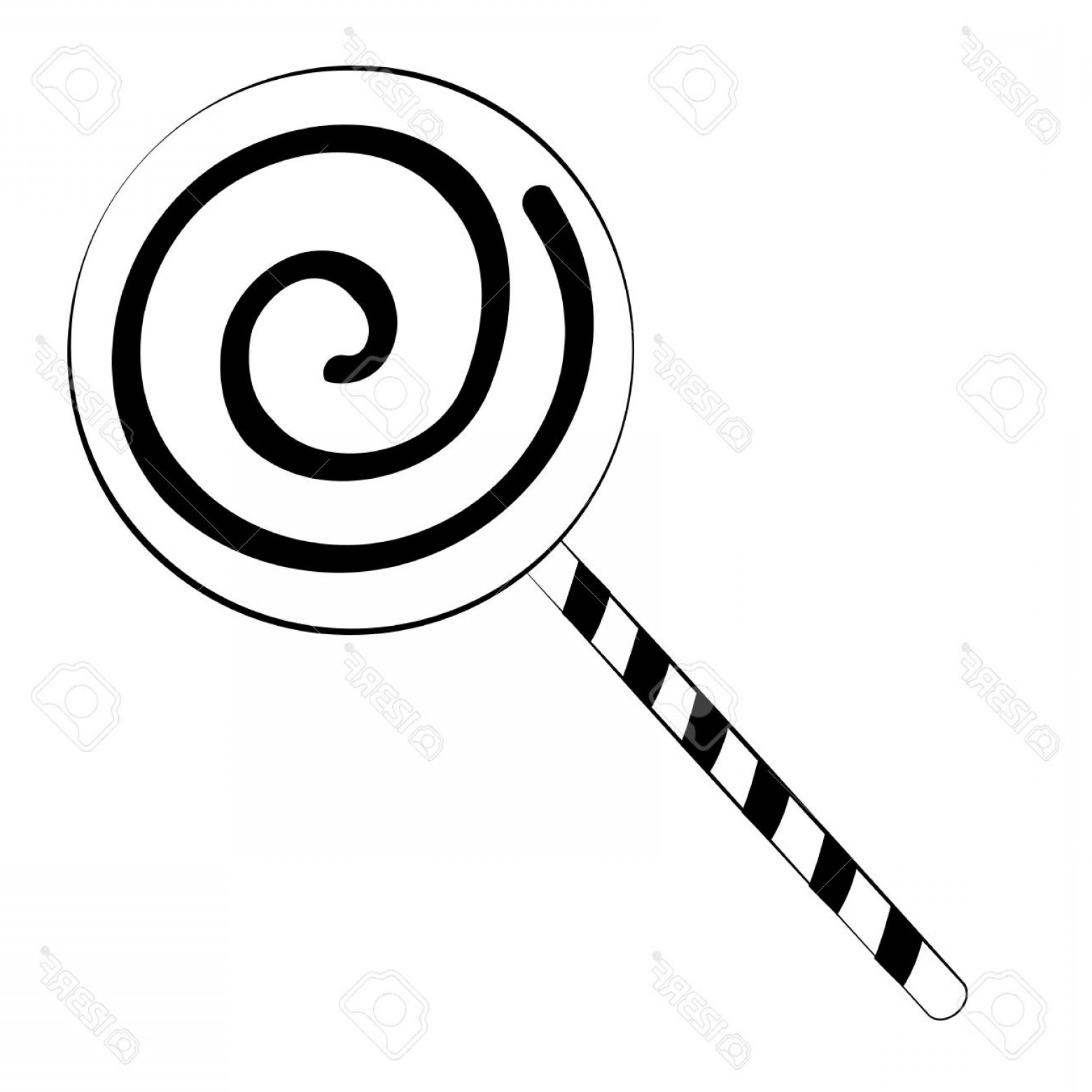 Black And White Candy Vector: Photoblack Outline Vector Candy On White Background