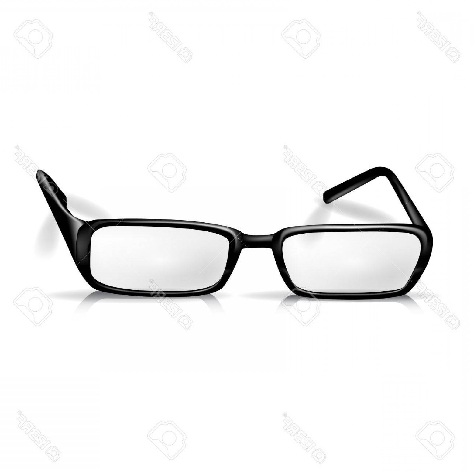 Reading Glasses For Men Vector: Photoblack Reading Glasses Isolated On White