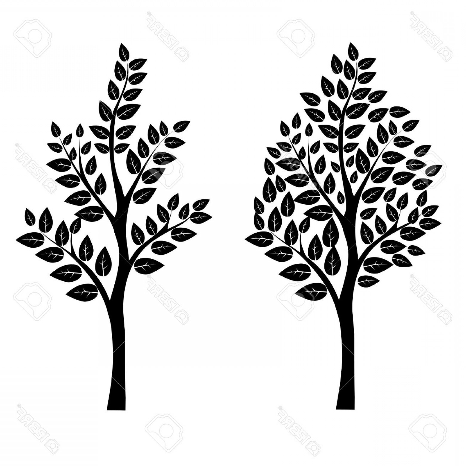 Free EPS Vector Art: Photoblack Tree Vector Art Eps