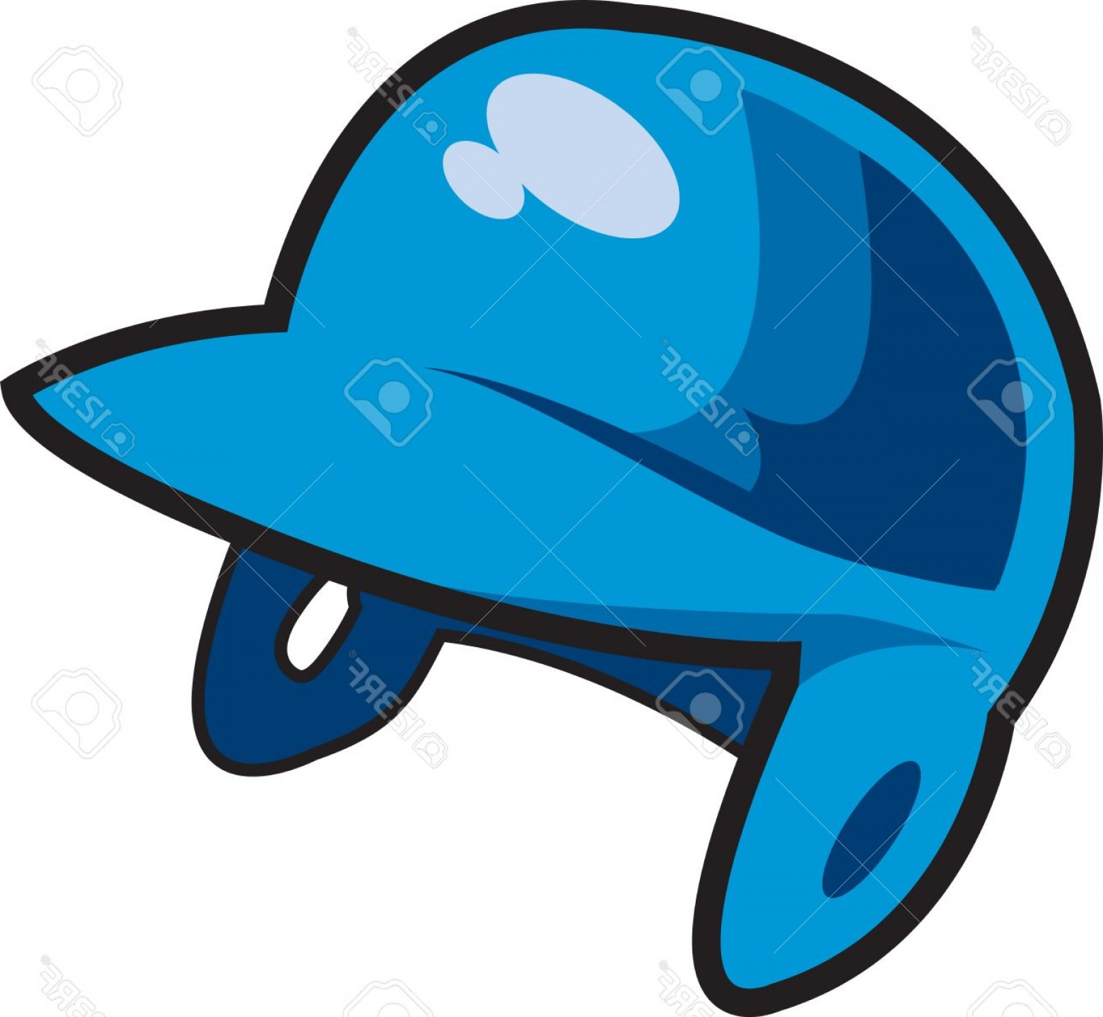 Little League Baseball Vector Logo No Text: Photoblue Batter S Helmet For Baseball Softball Or Little League