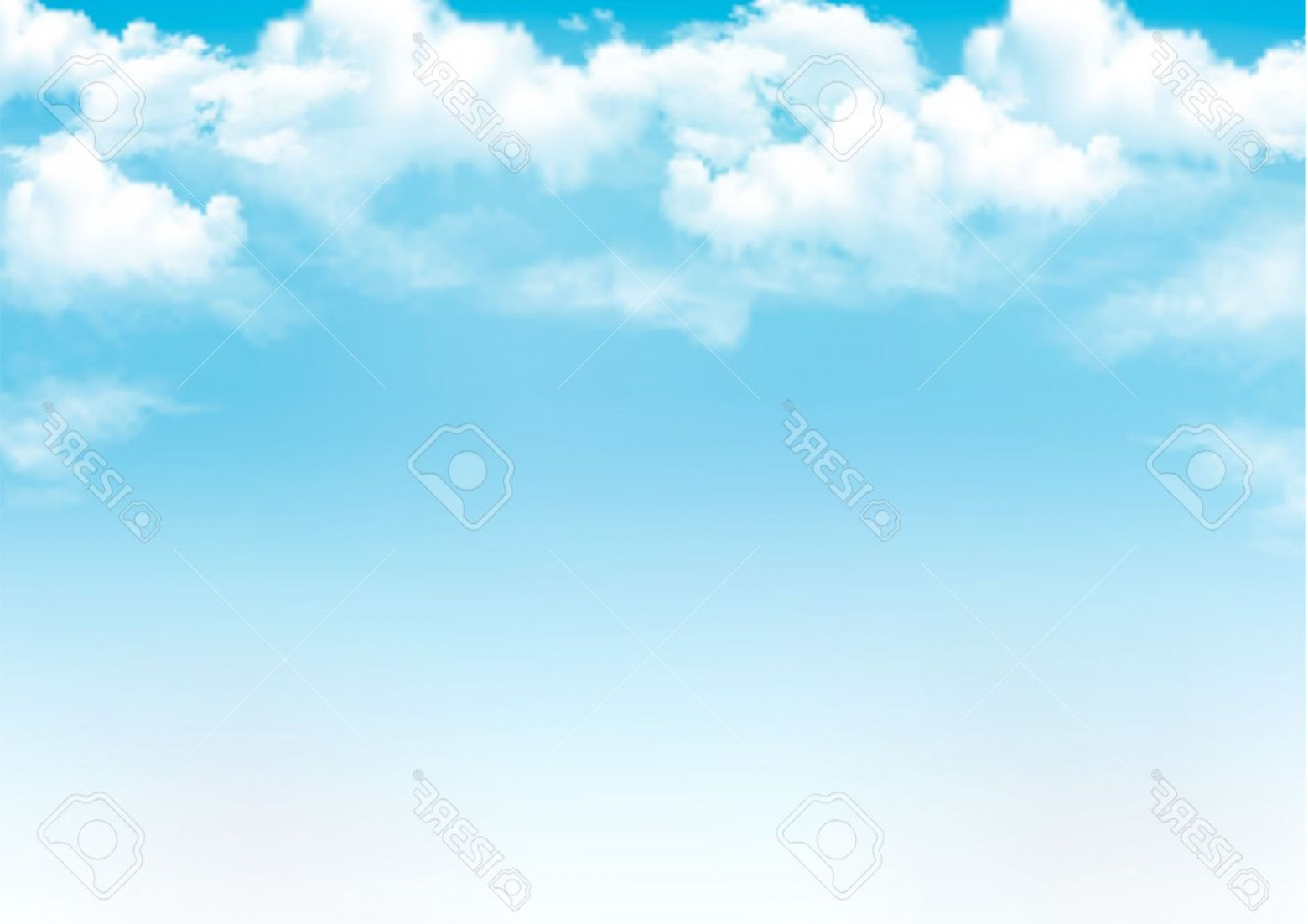 Clouds Backgrounds Vector: Photoblue Sky With Clouds Vector Background