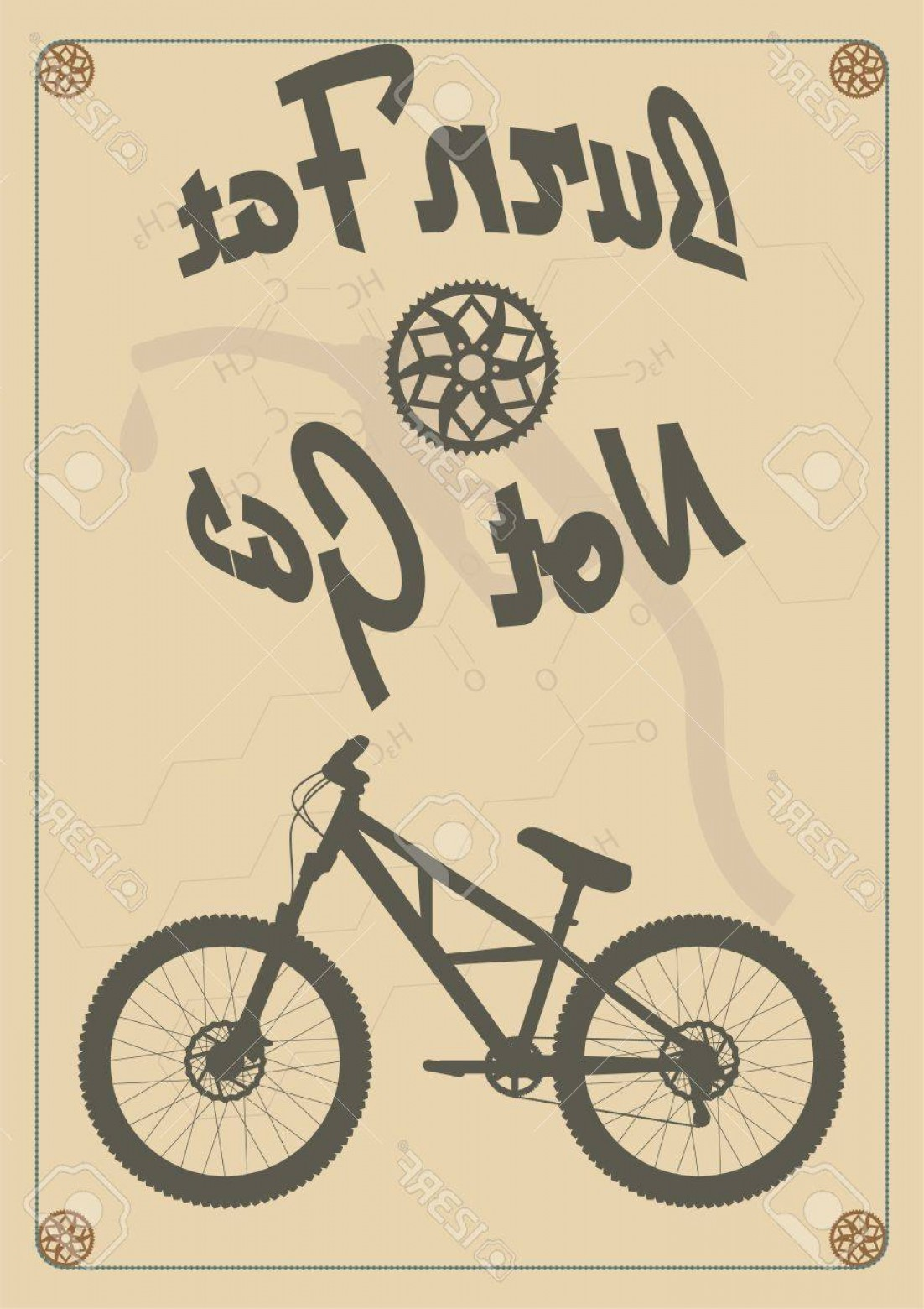 Dirt Bike Gas Can Vector: Photoburn Fat Not Gas Vintage Bike Poster
