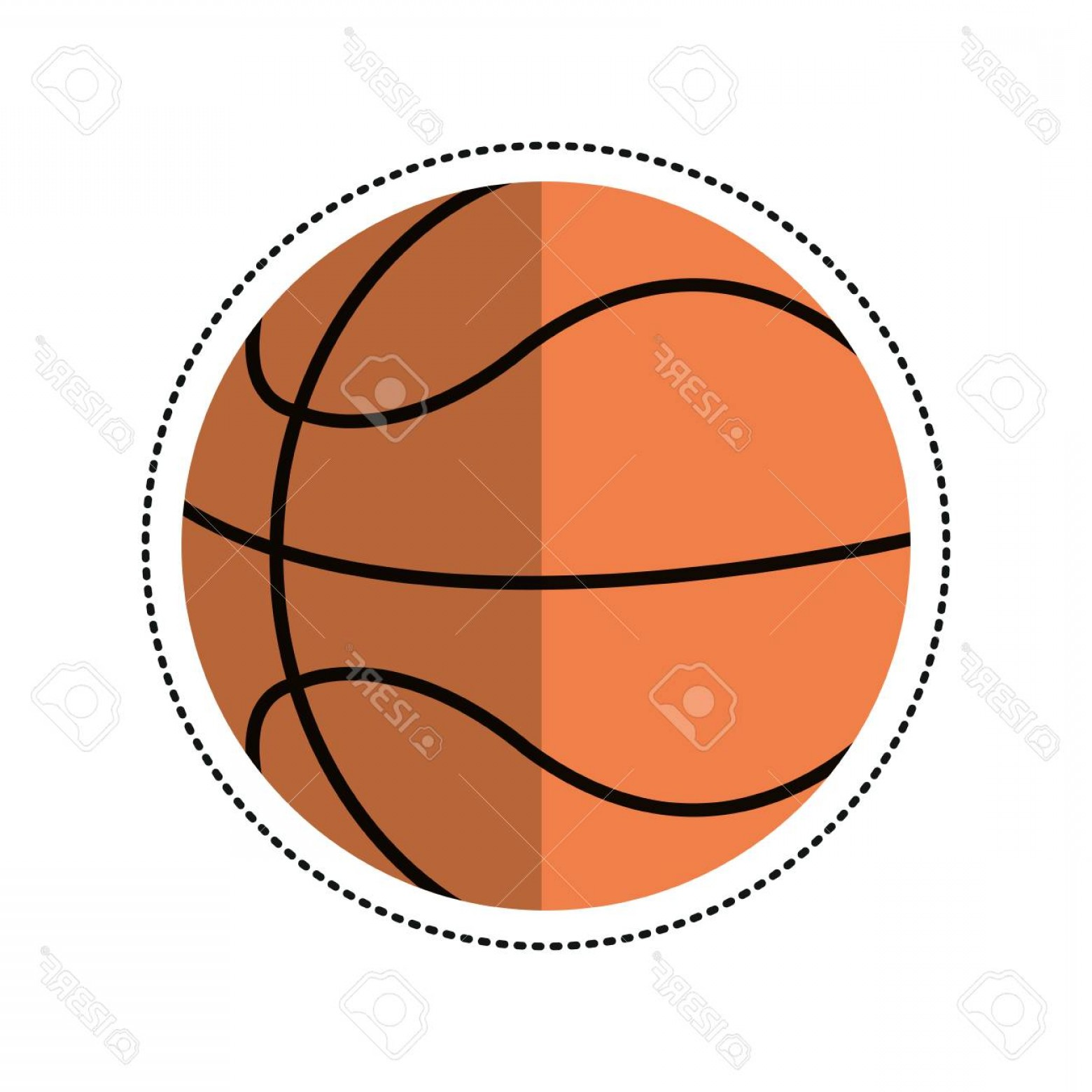 Cartoon Basketball Vector: Photocartoon Basketball Ball Play Vector Illustration Eps