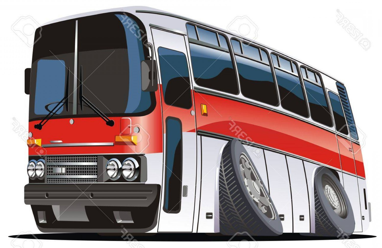 Pic Bus Vector Format: Photocartoon Tourist Bus Isolated On White Background Available Eps Vector Format Separated By Groups A