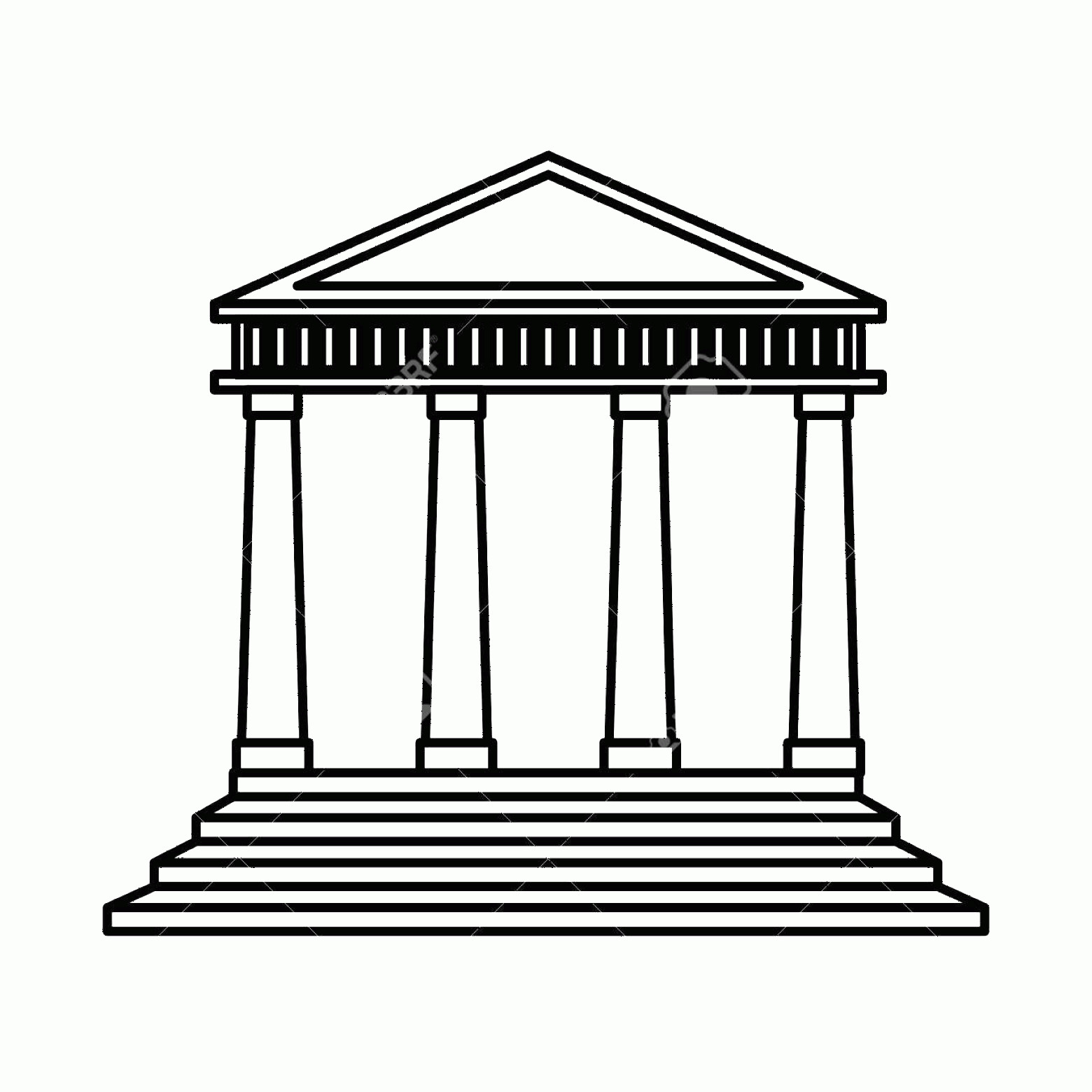 Court Building Vector: Photocourt Building Isolated Icon Vector Illustration Design