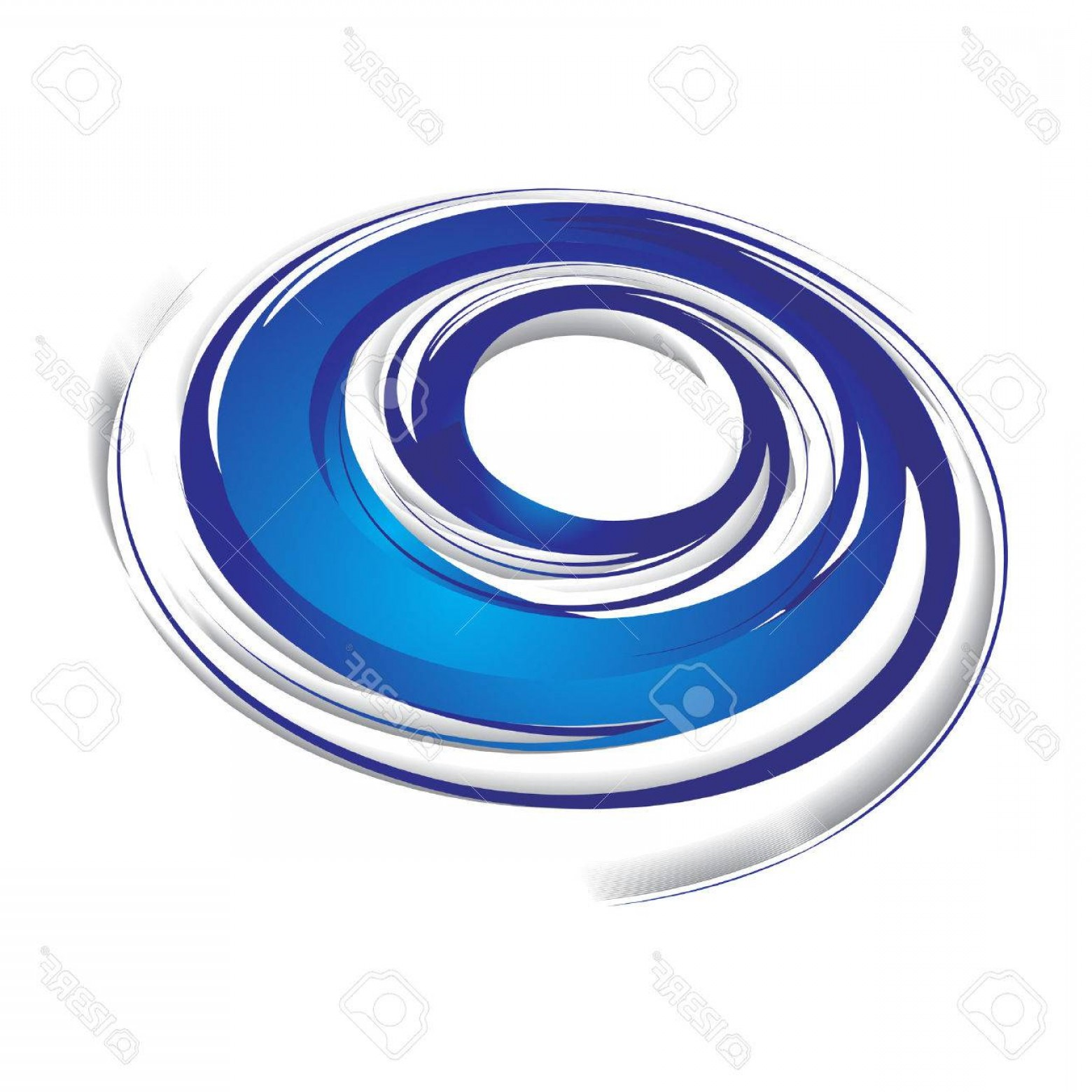 Blue With White Background Vector: Photod Abstract Blue Swirl Wave On A White Background Vector Illustration