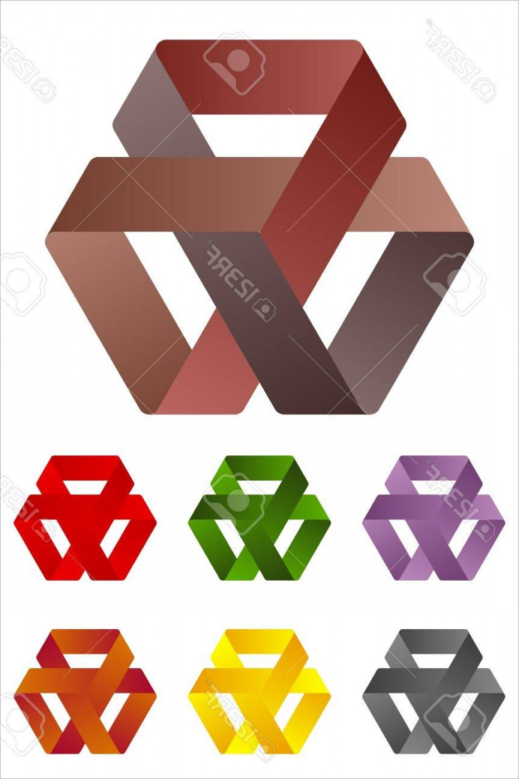 Cross And Ribbon Vector: Photodesign Triangles Logo Element Infinite Cross Ribbon Vector Icon Template