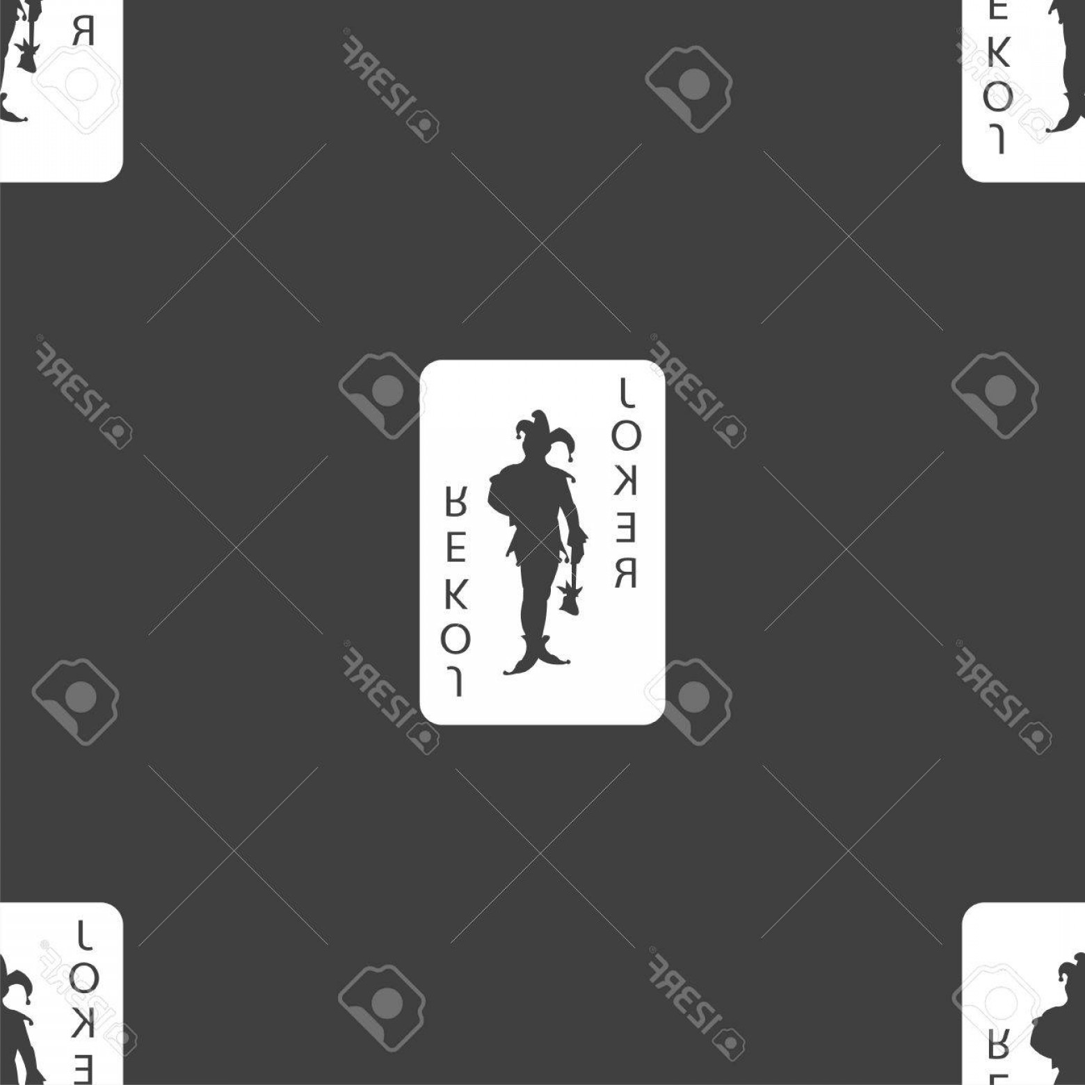 Single Playing Card Vector: Photoegyscages Jcatcakkcartya Joker Ikon Jel Zcbkkencmentes Minta Egy Szcbcrke Hcattcar Vektor Illusztrcacicb