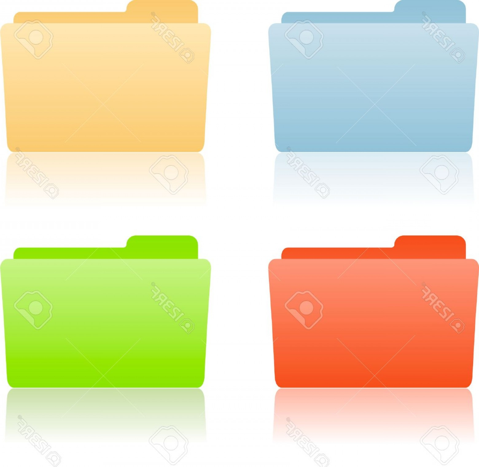 Folder Tab Vectors: Photofile Folder With Place For Label
