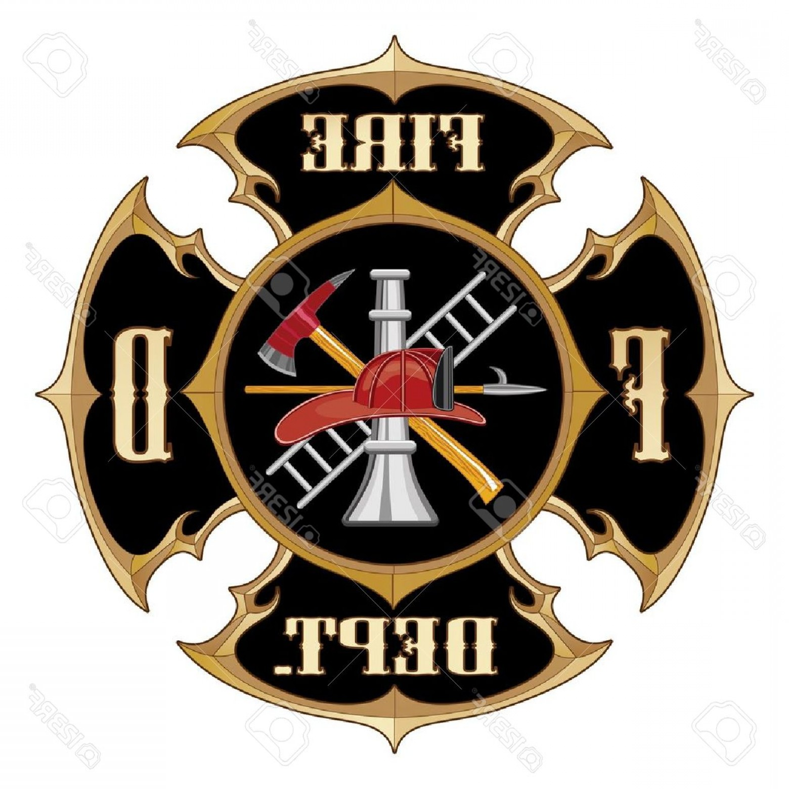 Fire Maltese Vector: Photofire Department Maltese Cross Vintage Is An Illustration Of A Vintage Fire Department Maltese Cross