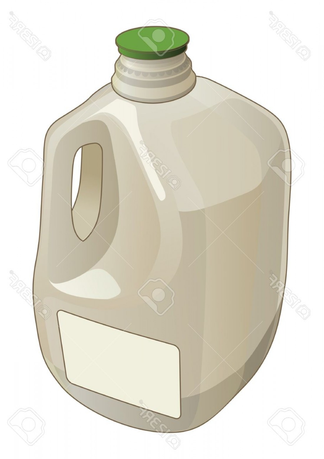 Gallon Milk Jug Vector: Photogallon Jug Is An Illustration Of A Gallon Jug Used As A Container For Milk And Other Liquids