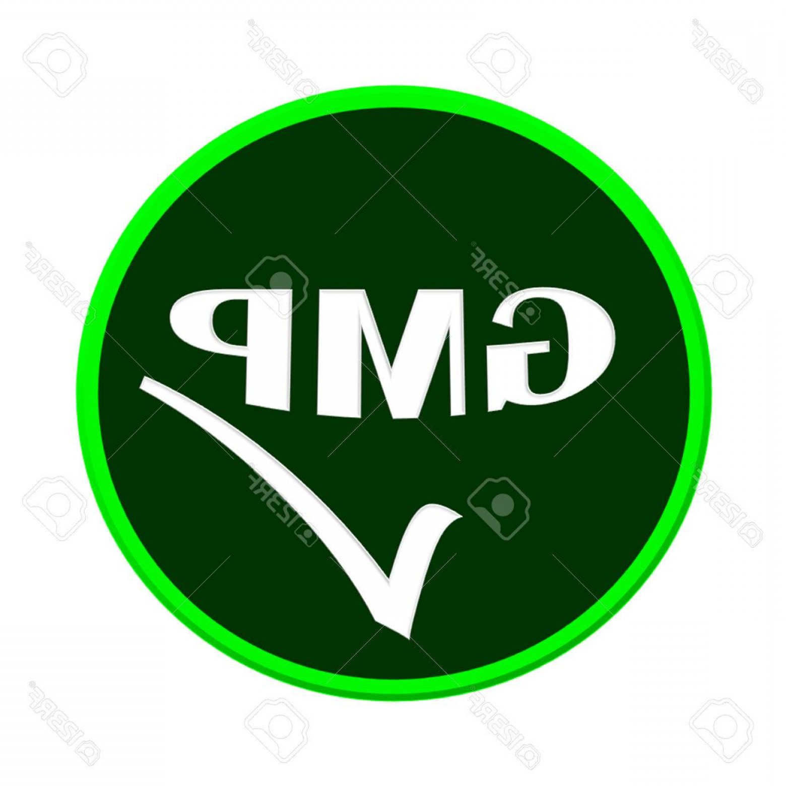 GMP Logo Vector: Photogmp Logo Or Symbol Image Concept Design On White Background