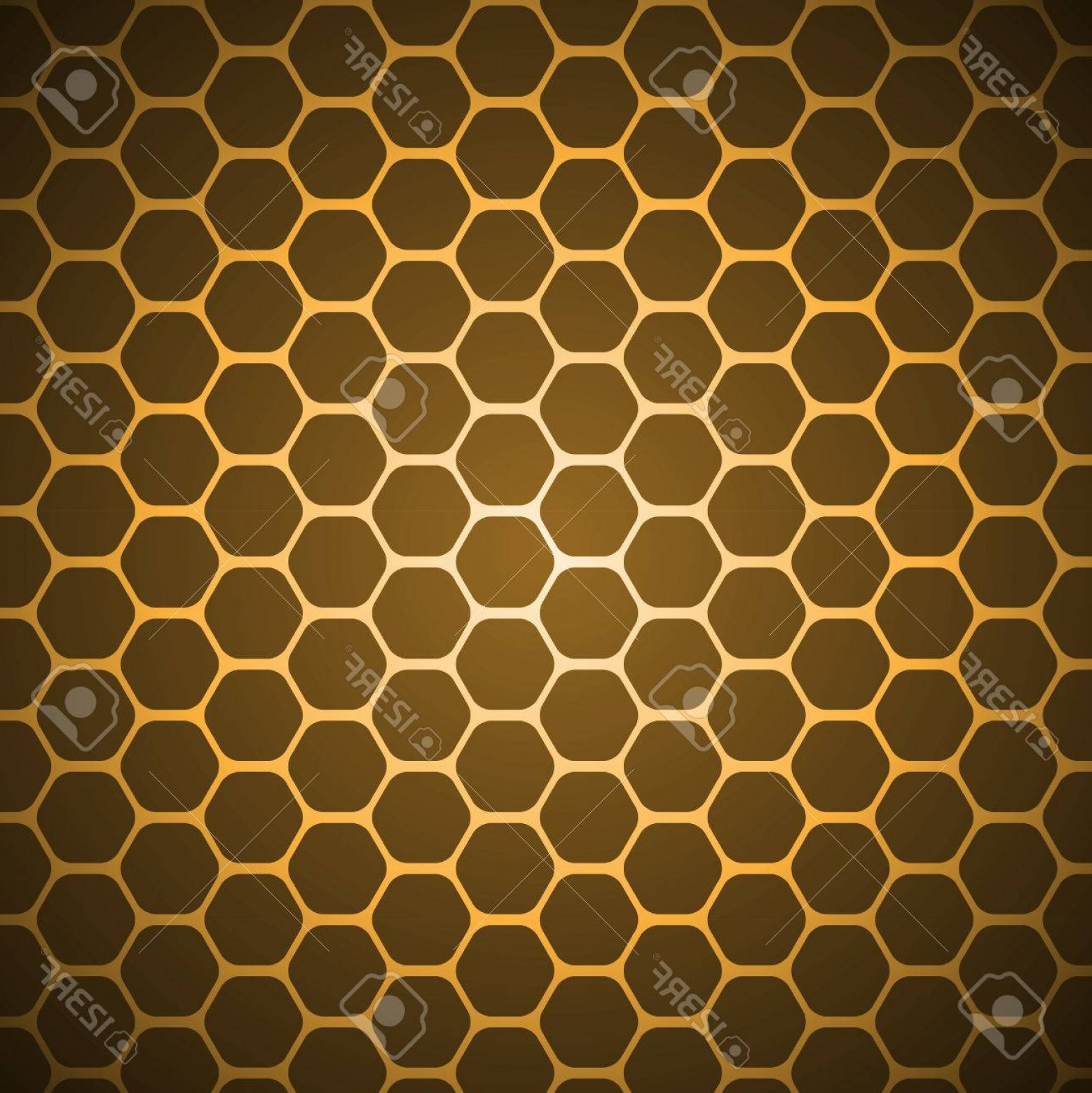 Honeycomb Background Pattern Vector: Photogold Vector Abstract Hexagon Honeycomb Background Pattern