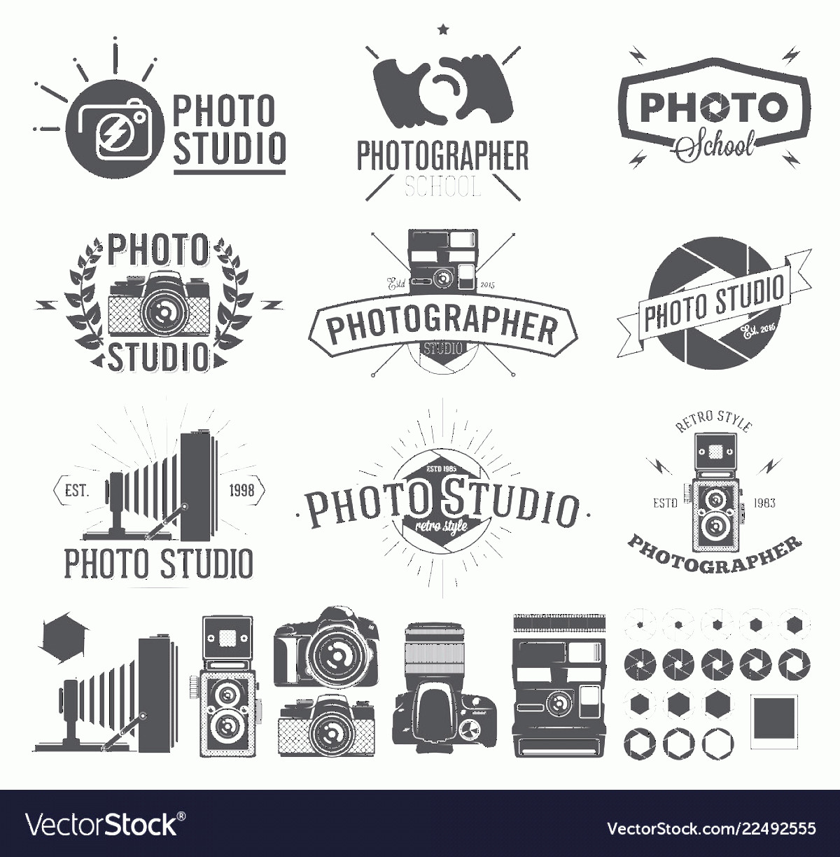 Classic Camera Vector: Photography And Photo Studio Logo Classic Camera Vector