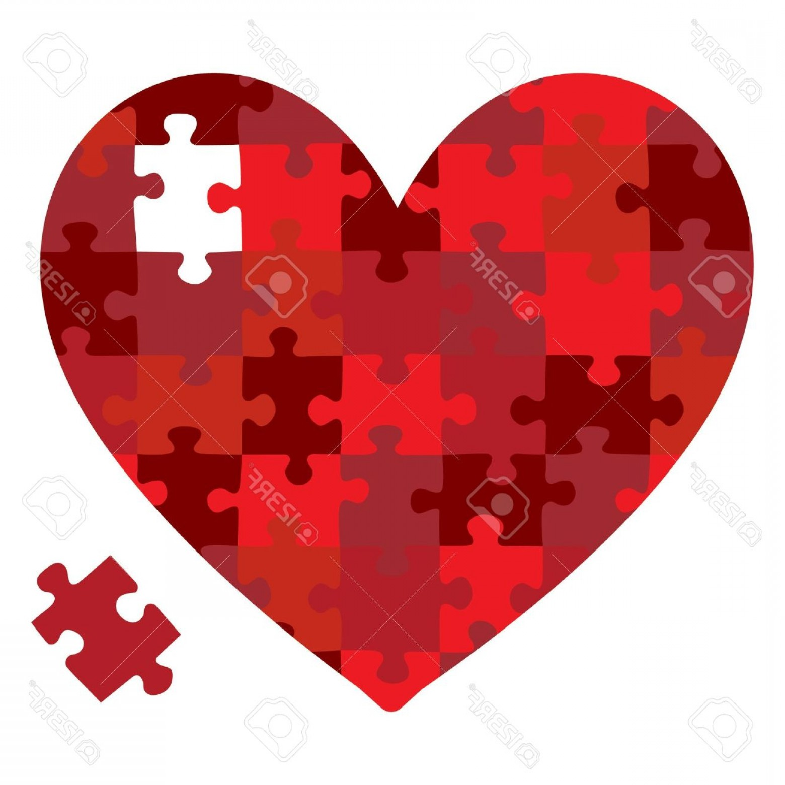 Puzzle In Vector Format: Photoheart Jigsaw Puzzle In Vector Format