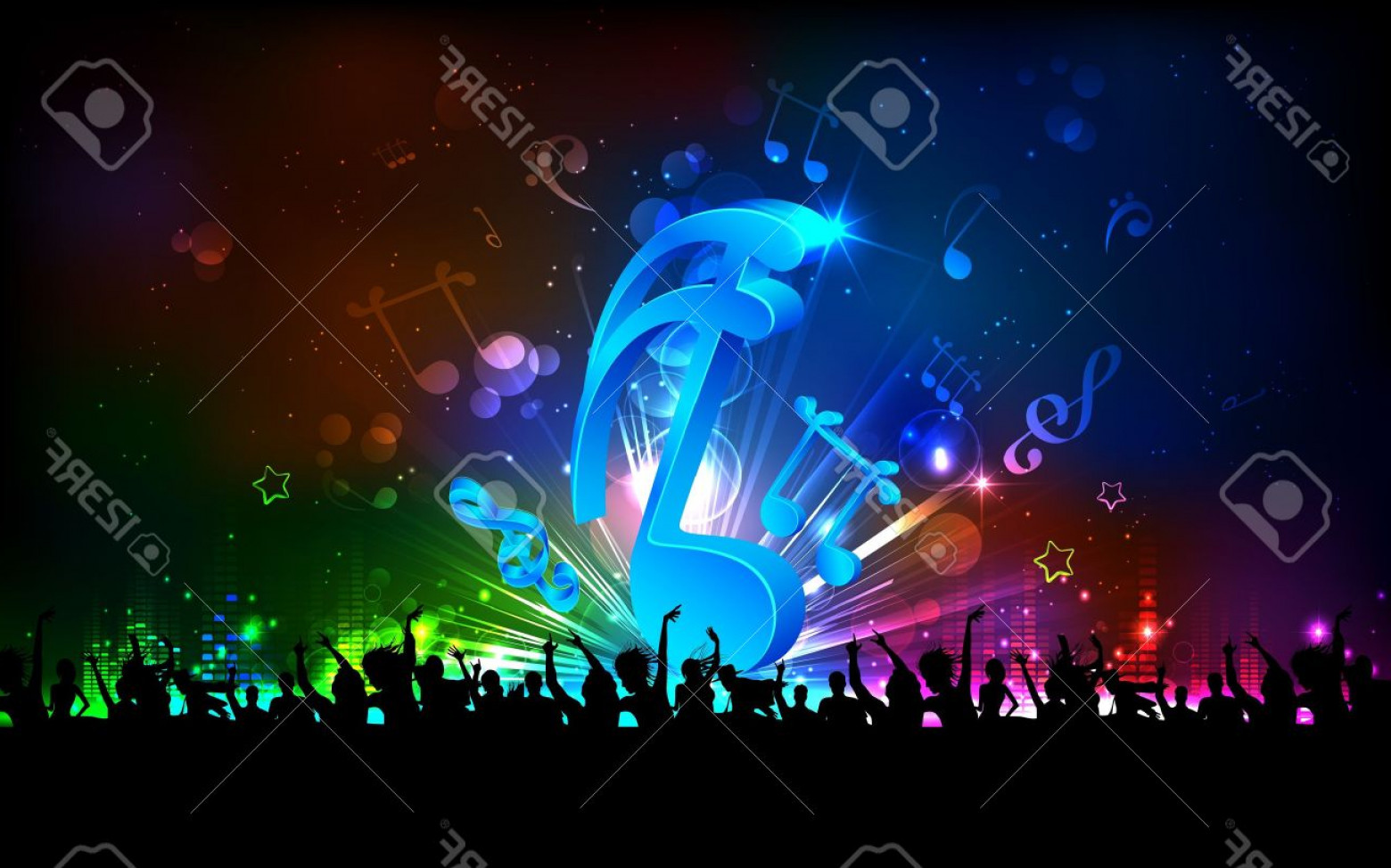 Free Vector Backgrounds Illustrator Free Download: Photoillustration Of Abstract Musical Note For Party Background