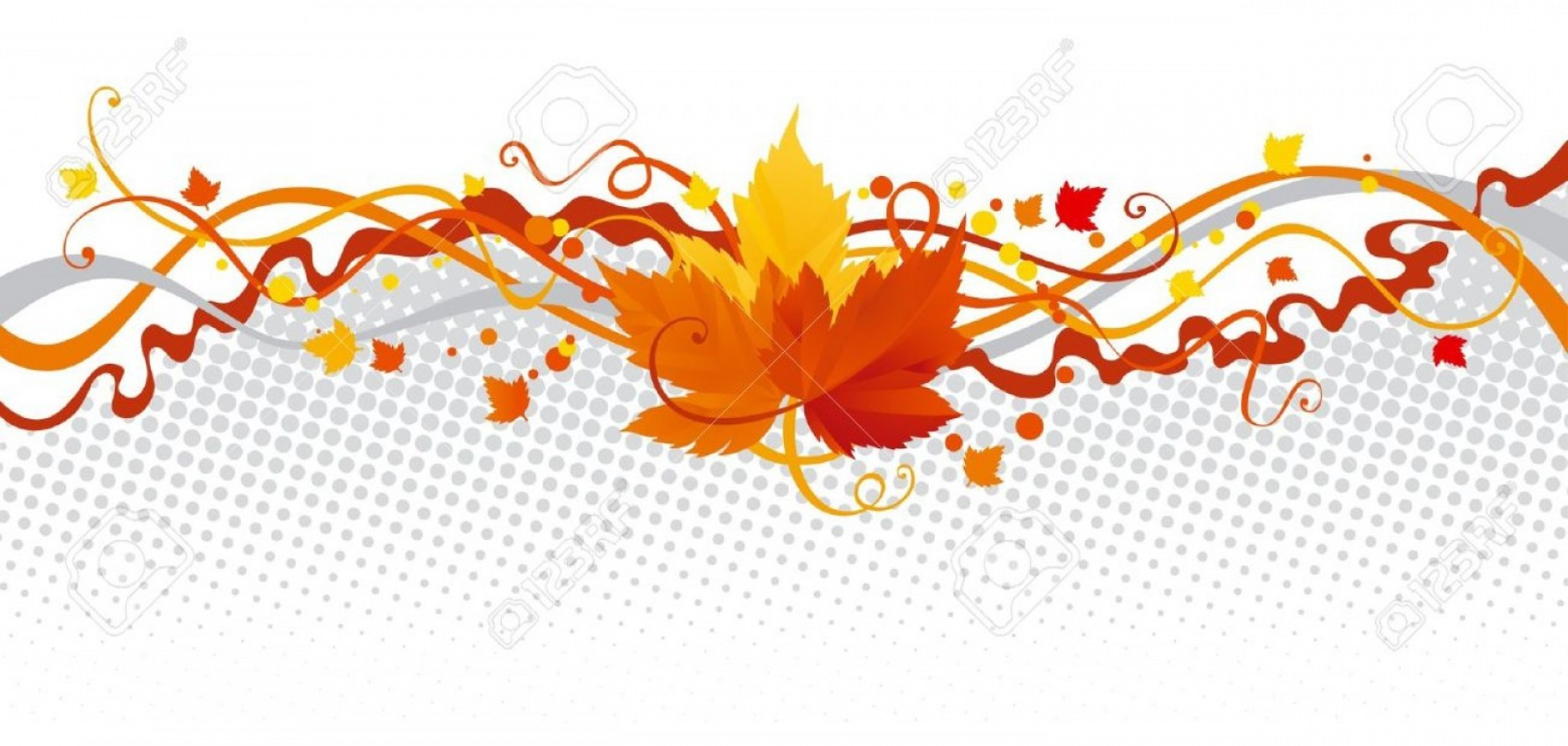 Thanksgiving Border Vector: Photoleaves Border Vector Abstract Border With Autumn Leaves