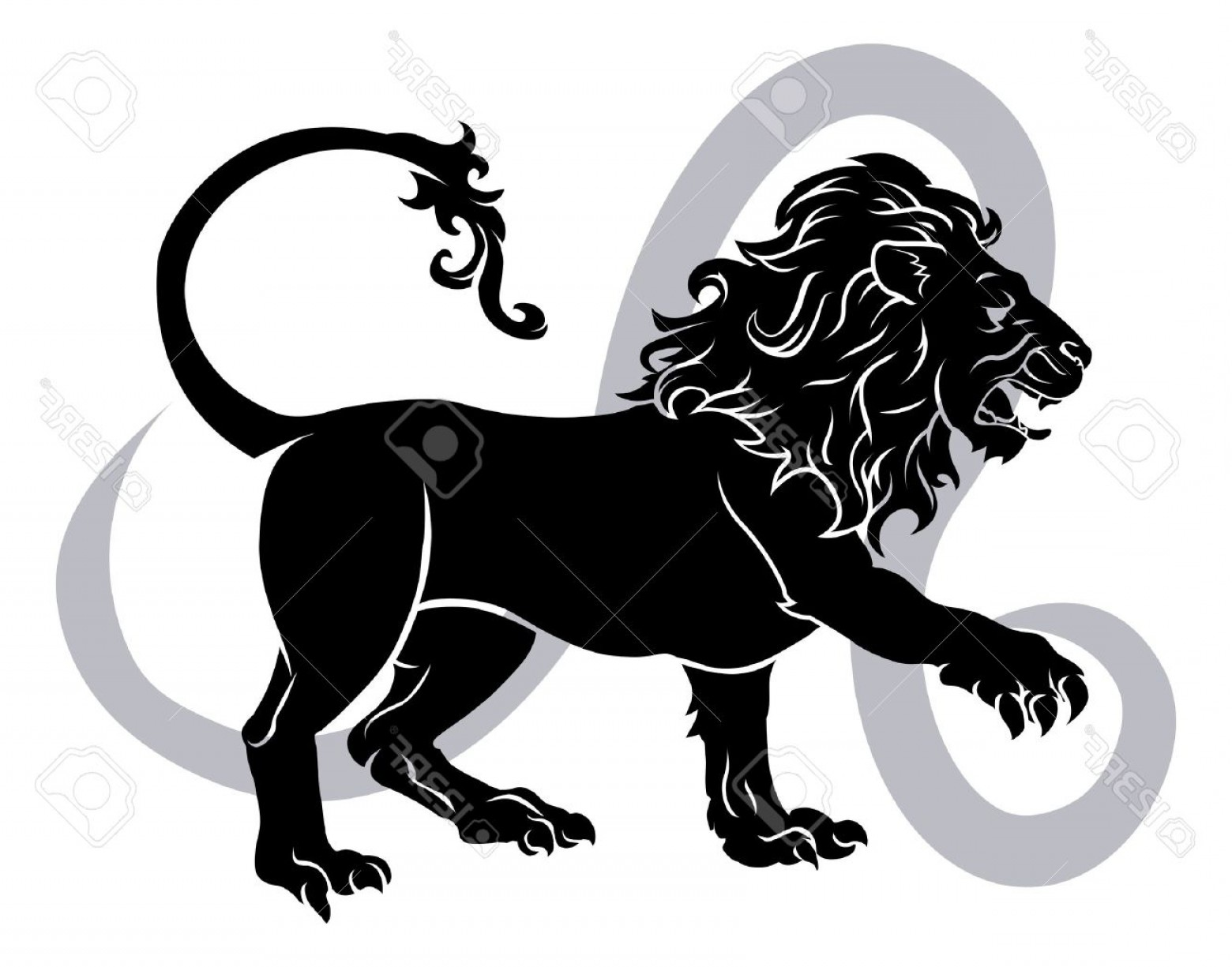 Leo Symbol Zodiac Vector: Photoleo The Lion Zodiac Horoscope Astrology Sign