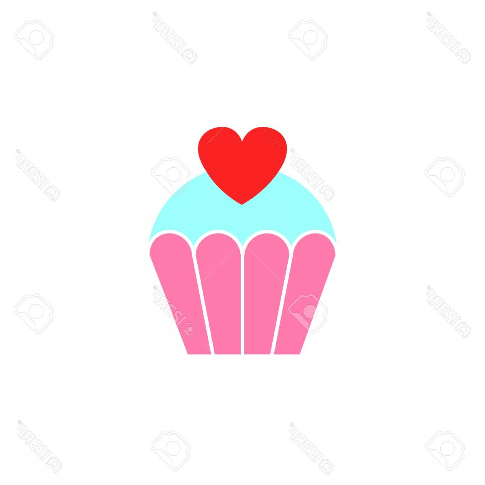 Solid Heart Vector Drawing: Photolove Cake With Heart Solid Icon Sweets For Valentine S Day Love Concept Vector Graphics A Colorful L