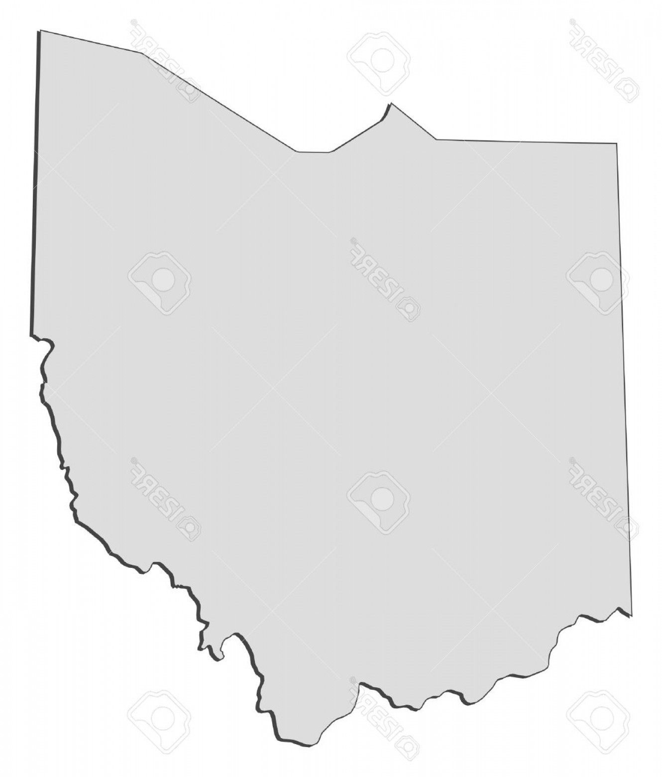 Ohio Vector Art: Photomap Of Ohio A State Of United States