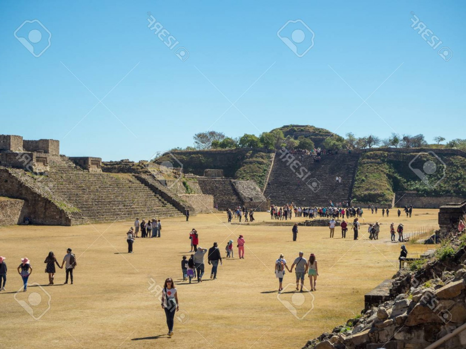 Vector South America Ancient Ruins: Photomonte Alban Oaxaca Mexico South America January Biggest Ruins Of Ancient Zapotec City At The To
