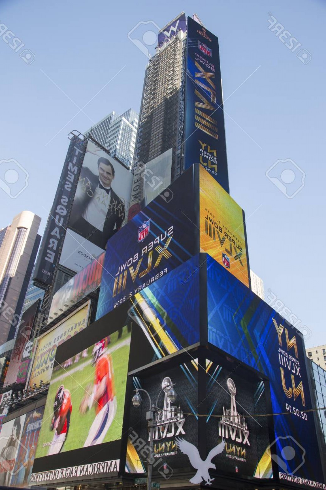 Super Bowl XLVIII Trophy Vector: Photonew York January W Times Square Hotel During Super Bowl Xlviii Week In Manhattan On January
