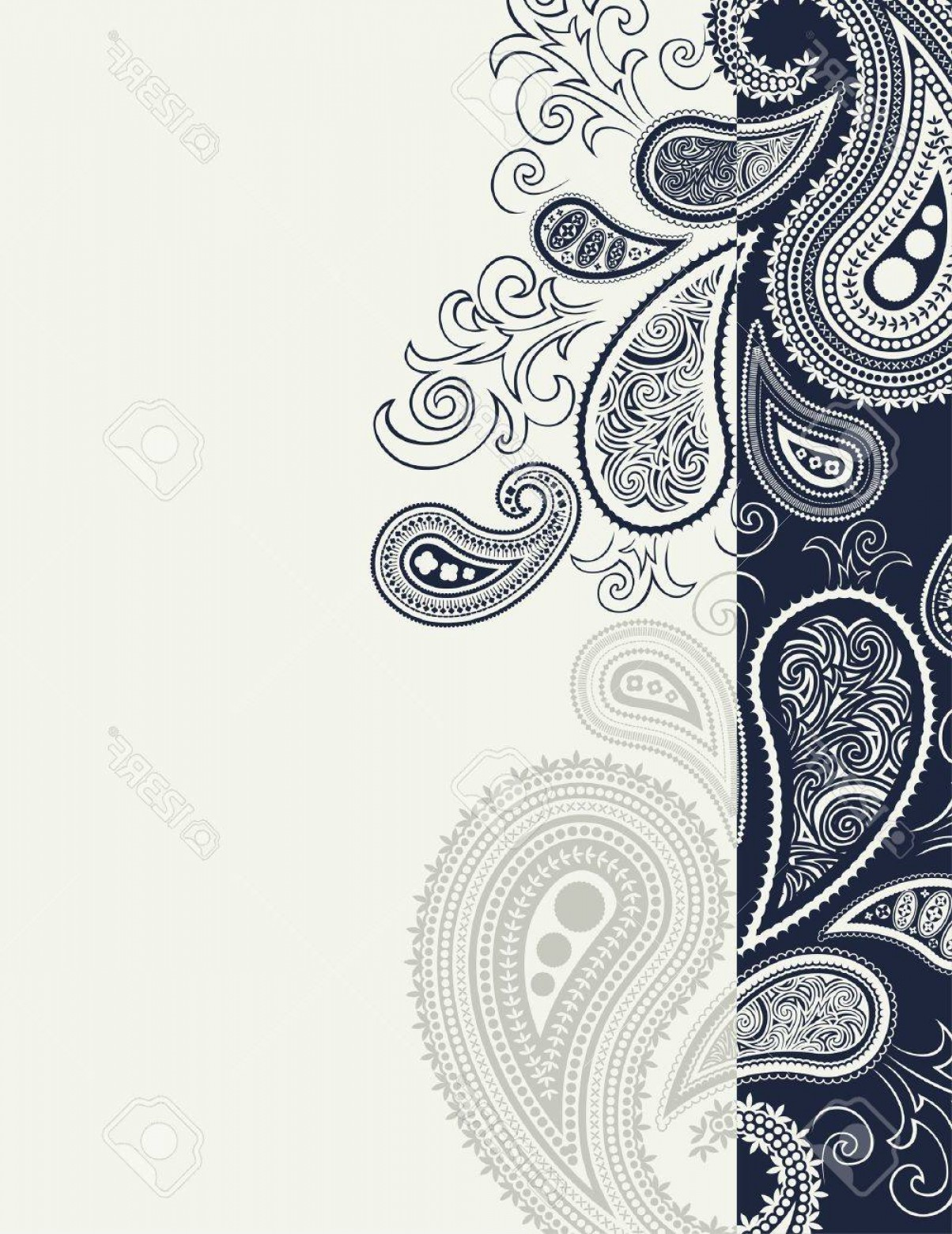 Simple Paisley Vector Border: Photopaisley Border Backgroundin Vector Format Individual Objects Very Easy To Edit