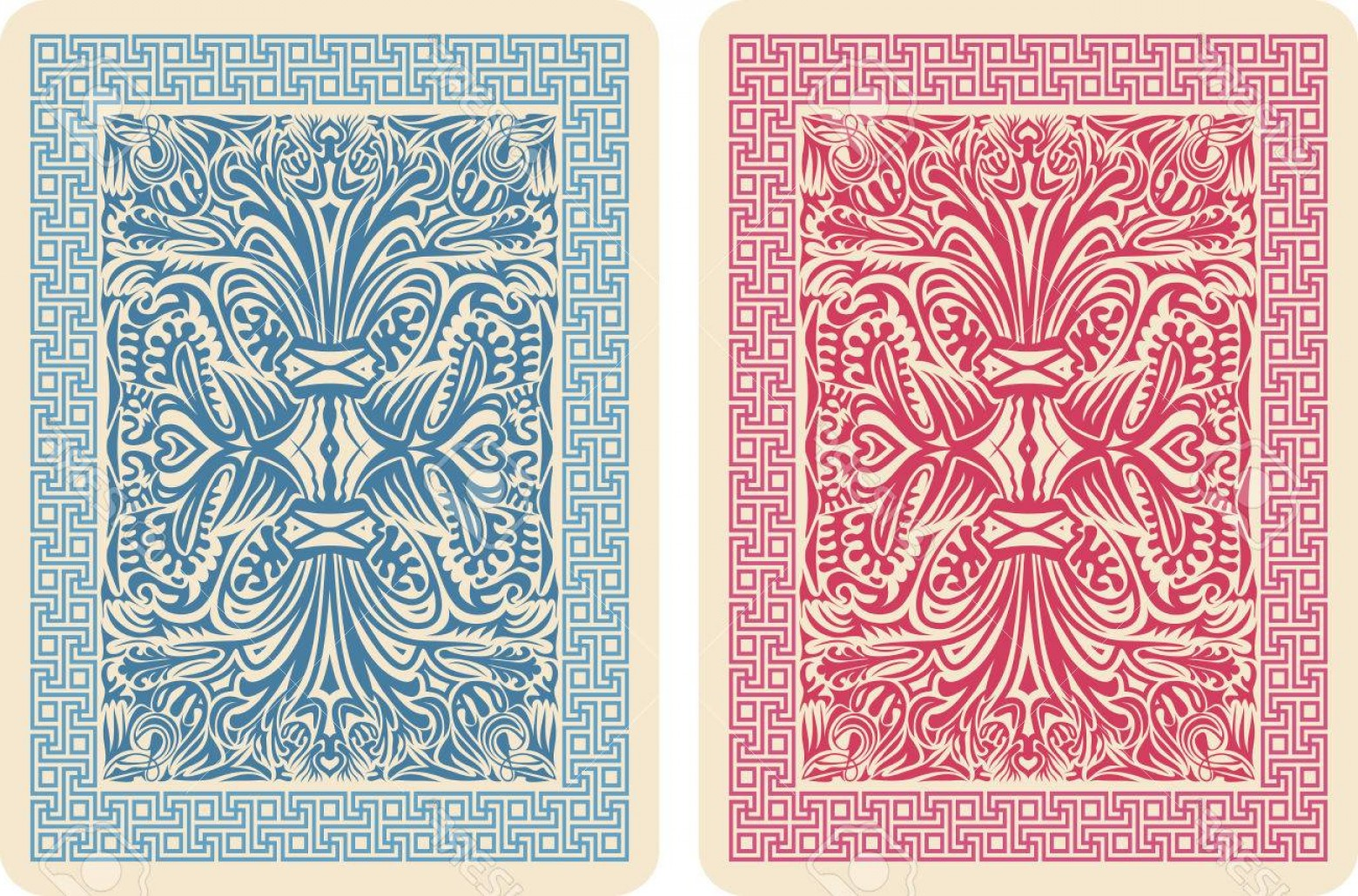 10 Playing Card Vector: Photoplaying Card Back Designs Vector Illustrator Eps