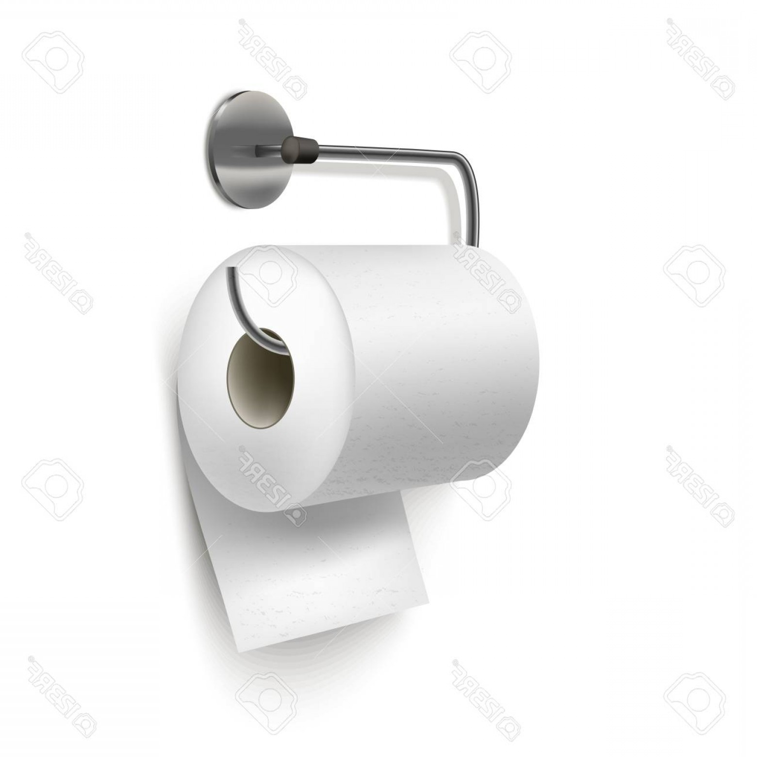Toilet Paper Vector: Photorealistic Detailed D Textured Toilet Paper Vector