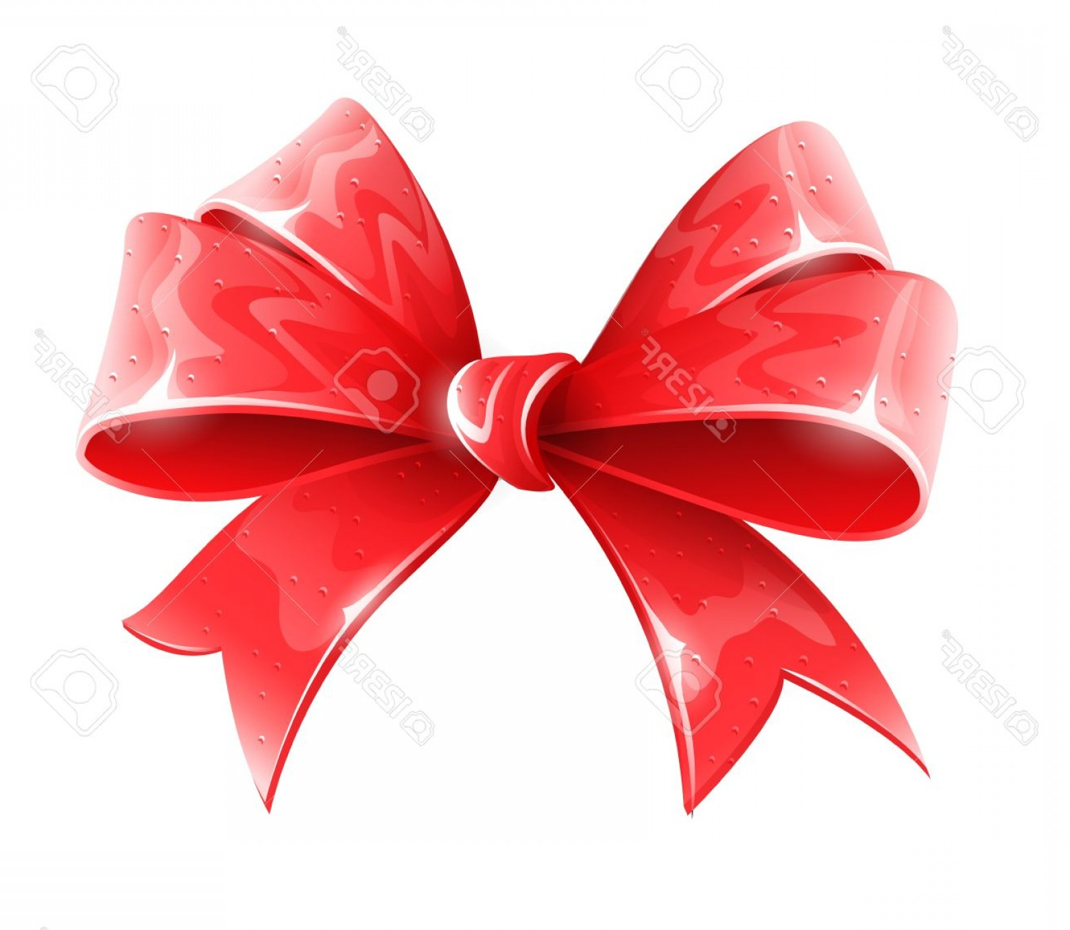 Hair Bow Clip Art Vector: Photored Bow For Holiday Gift Decoration Vector Illustration Isolated On White Background Eps Transpare