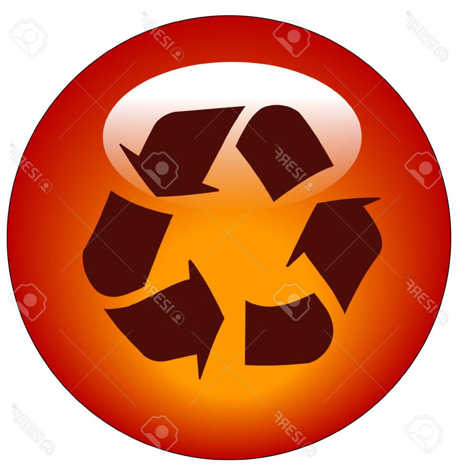 Recycle Icon Vector Red: Photored Reduce Reuse Recycle Web Button Or Icon Vector