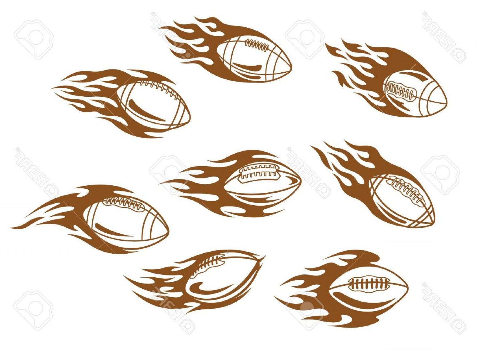 Tribal Football Vector Art: Photorugby And Football Tattoos With Tribal Flames