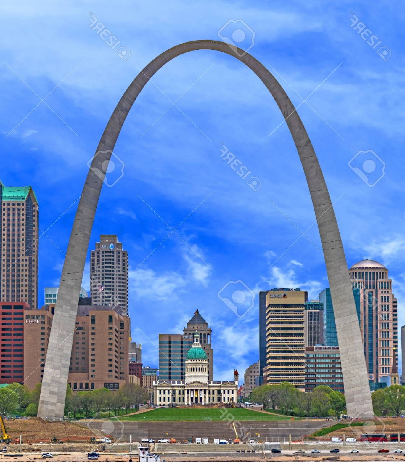 Arch Vector Illinios: Photosaint Louis Arch And Old Courthouse