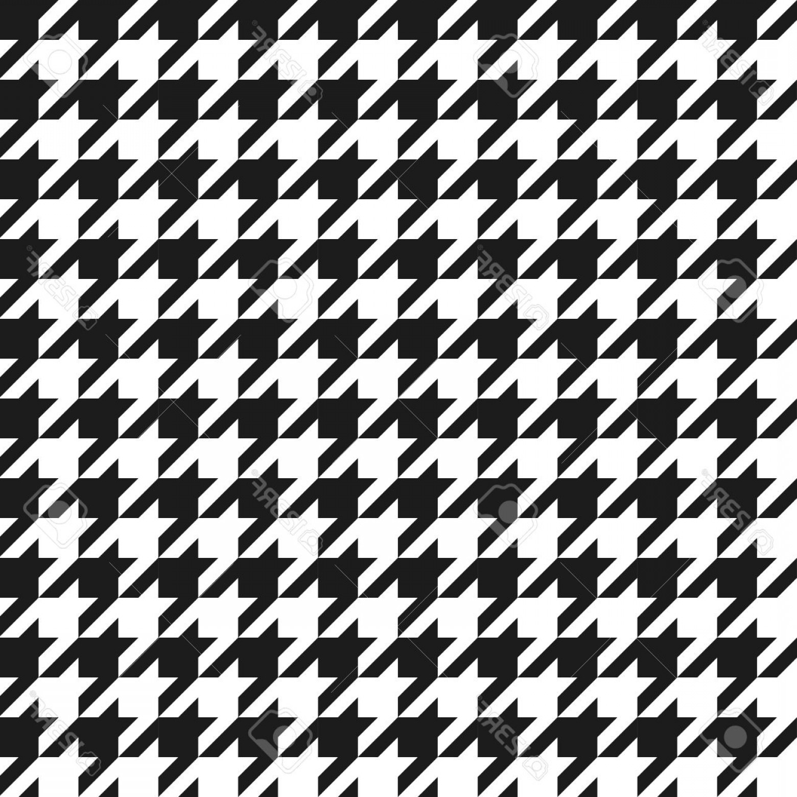 Houndstooth Vector: Photoseamless Black And White Houndstooth Vector Pattern