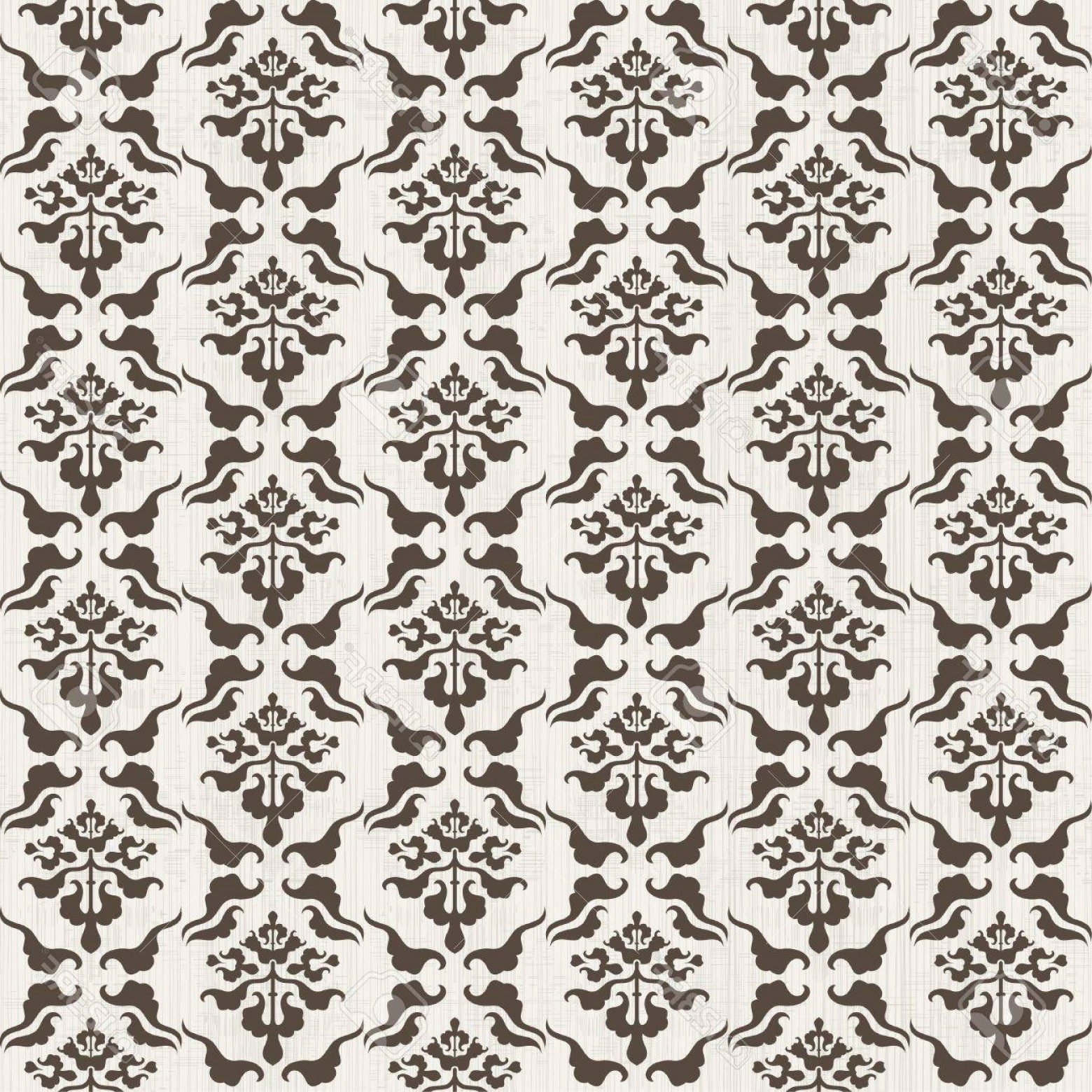 Victorian Motif Vector: Photoseamless Damask Pattern With Victorian Motif